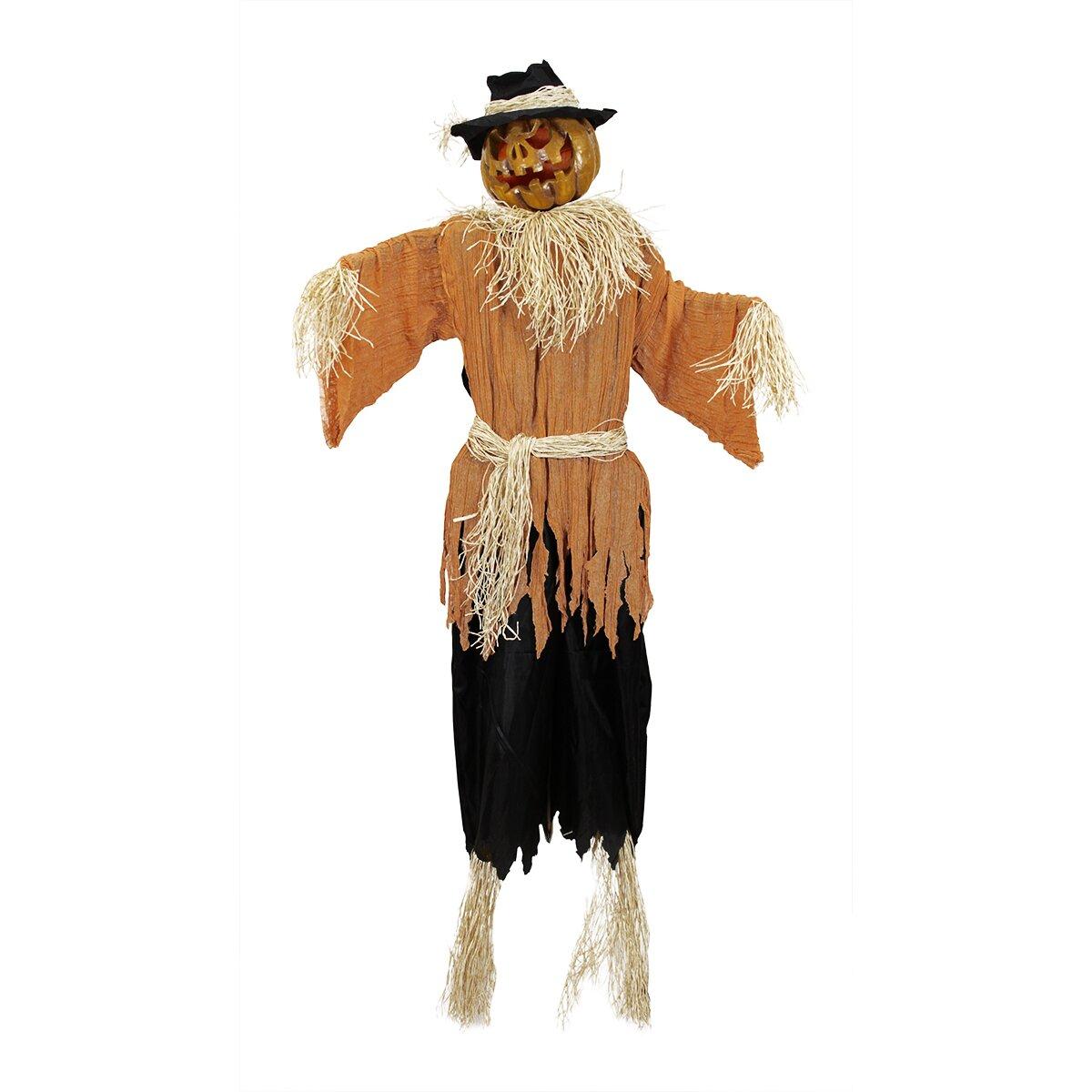 Creepy Jack-o'-Lantern Scarecrow Halloween Decoration | Wayfair