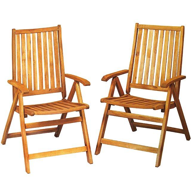 northlight seasonal acacia wood folding chairs outdoor patio furniture