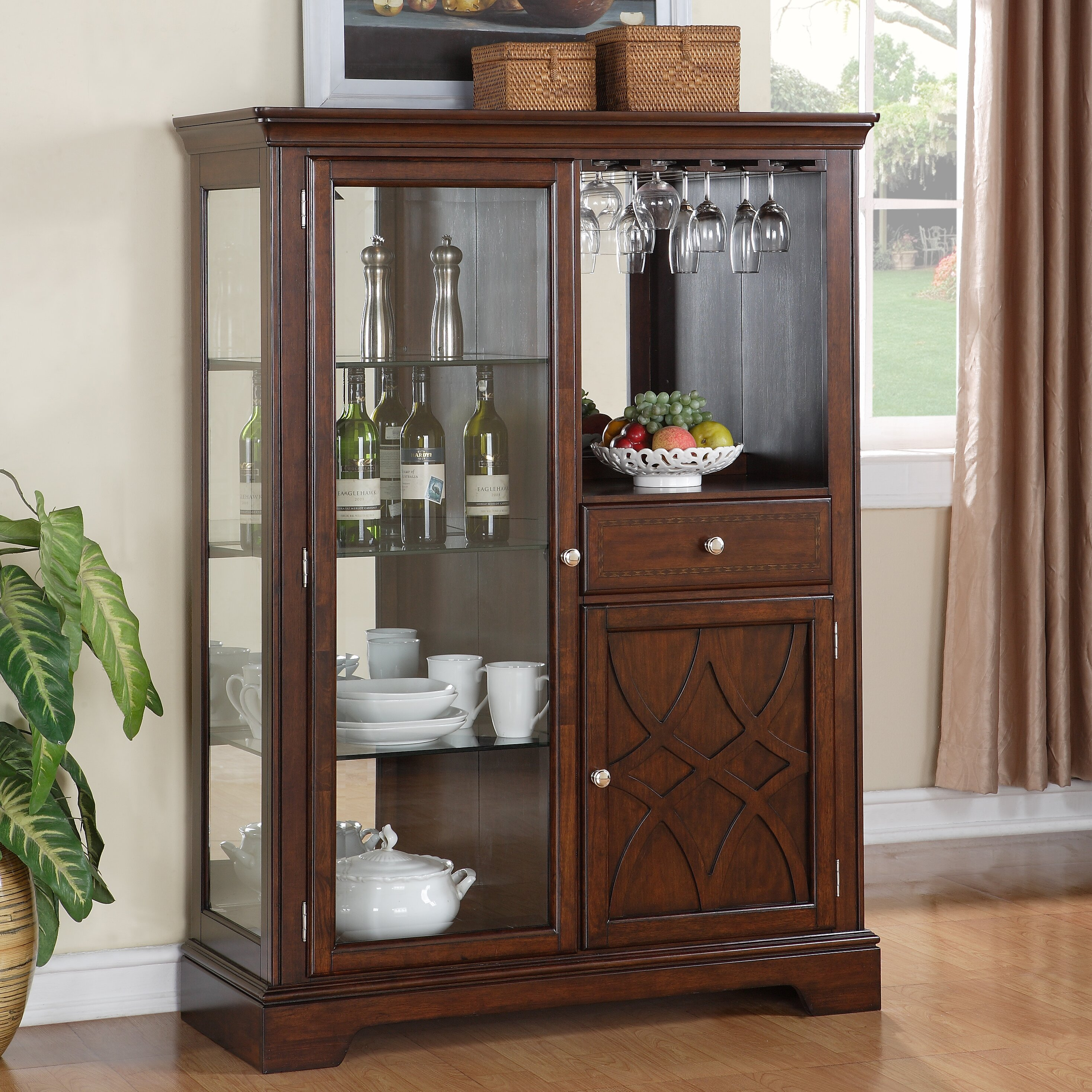 Clearance Cabinets: Darby Home Co Norden Curio Cabinet & Reviews