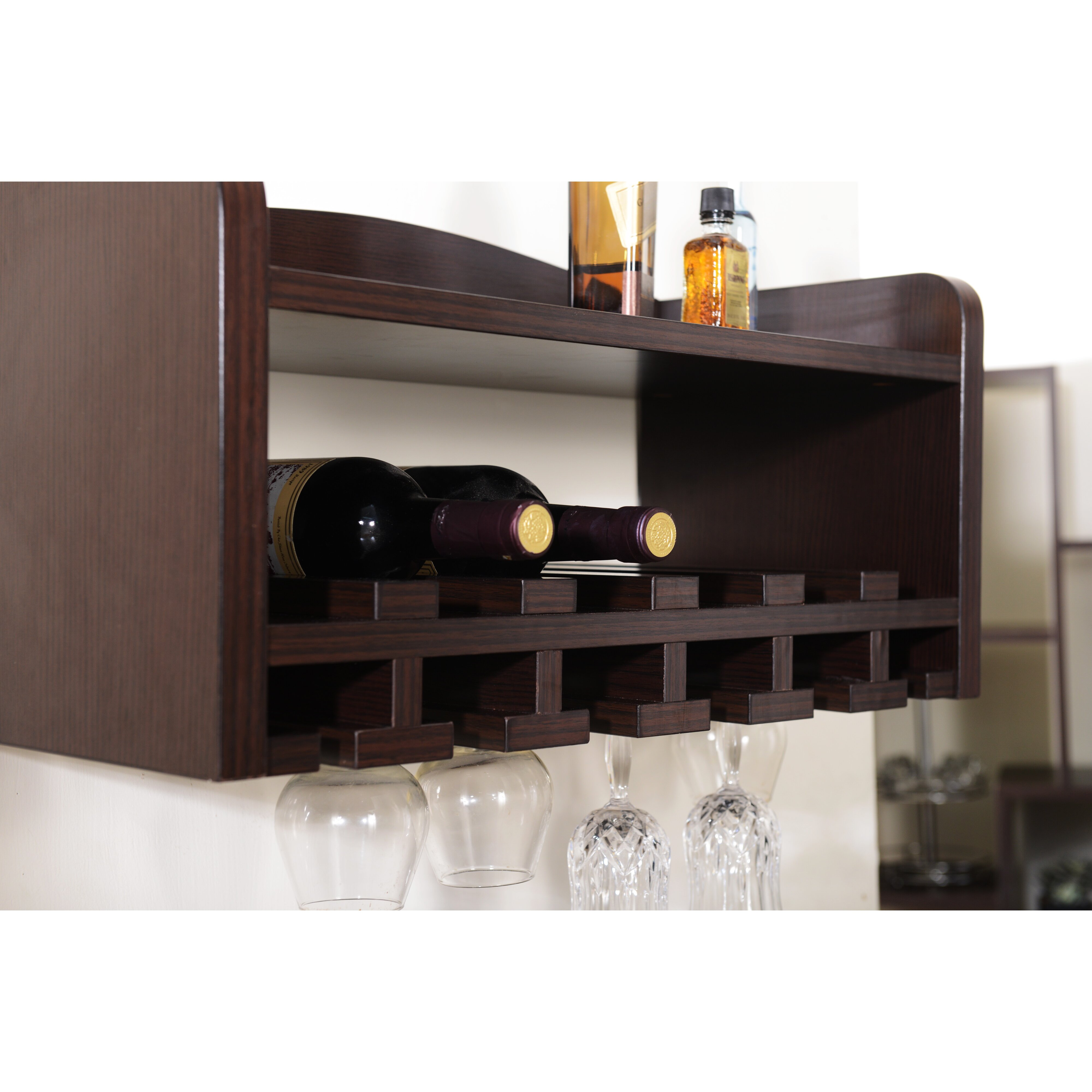 darby home co sullivan 6 bottle wall mounted wine rack reviews wayfair. Black Bedroom Furniture Sets. Home Design Ideas