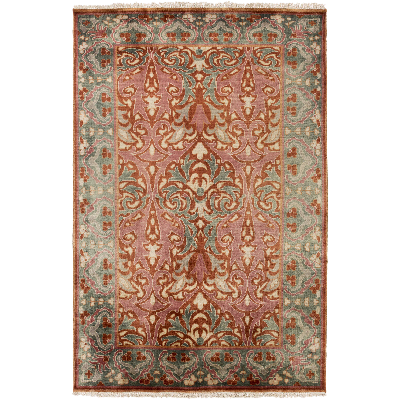 pritchard hand knotted pink gray area rug wayfair. Black Bedroom Furniture Sets. Home Design Ideas