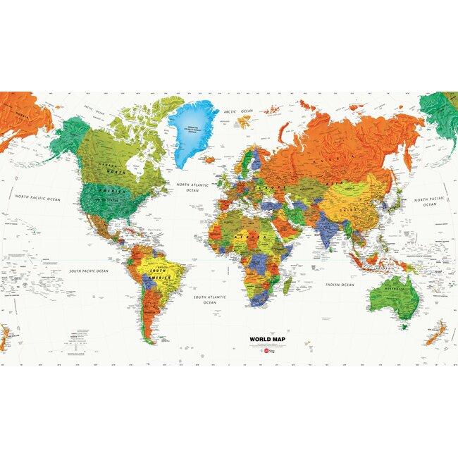 viv rae rainbow world map prepasted wall mural amp reviews tropical vacation xl prepasted wall mural