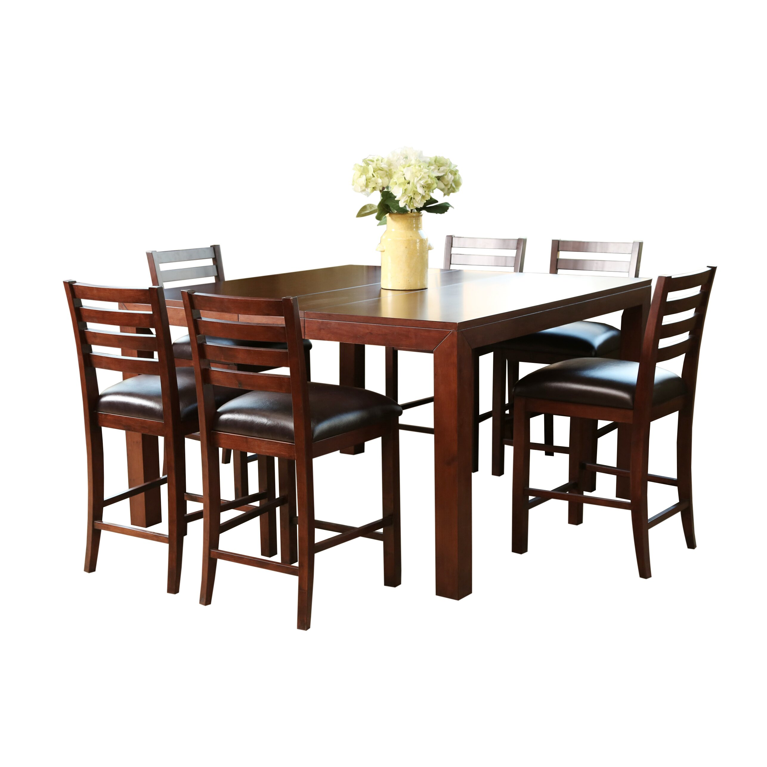 7 Piece Counter Height Dining Room Sets: East West Chelsea 7 Piece Counter Height Dining Set Amp