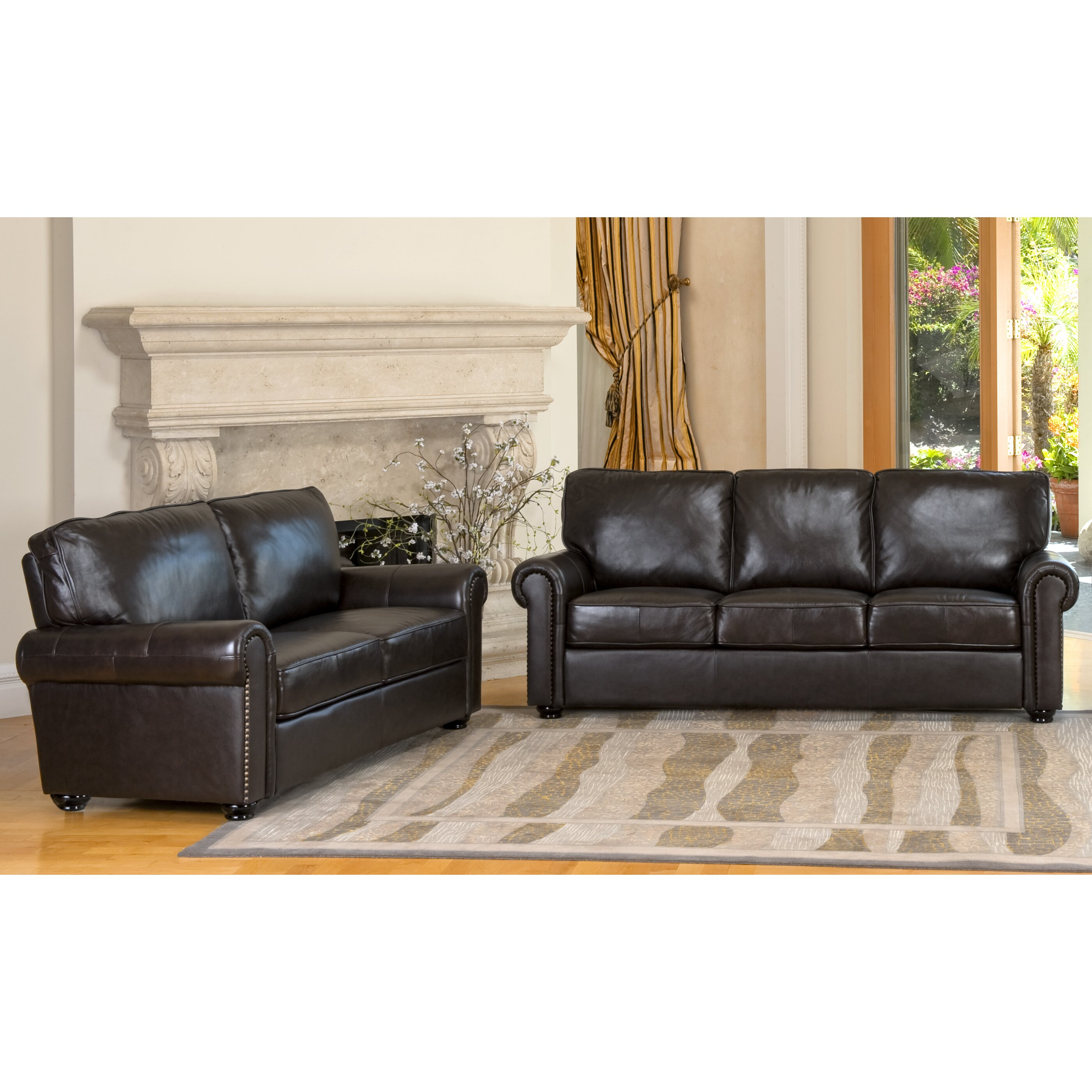new leather sofa and loveseat set