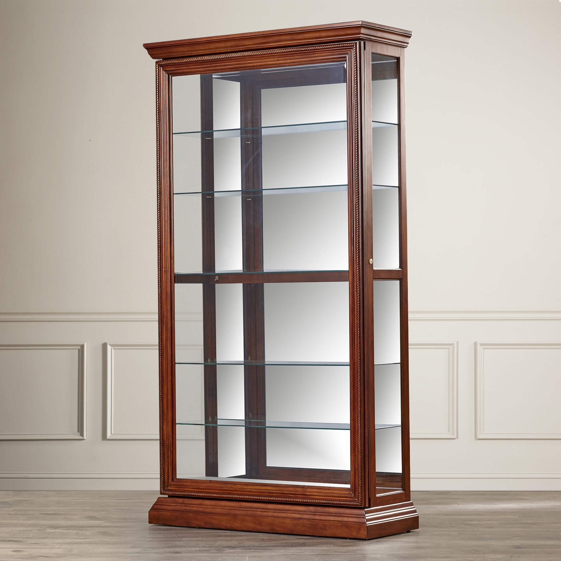 Clearance Cabinets: Darby Home Co Purvoche Curio Cabinet & Reviews