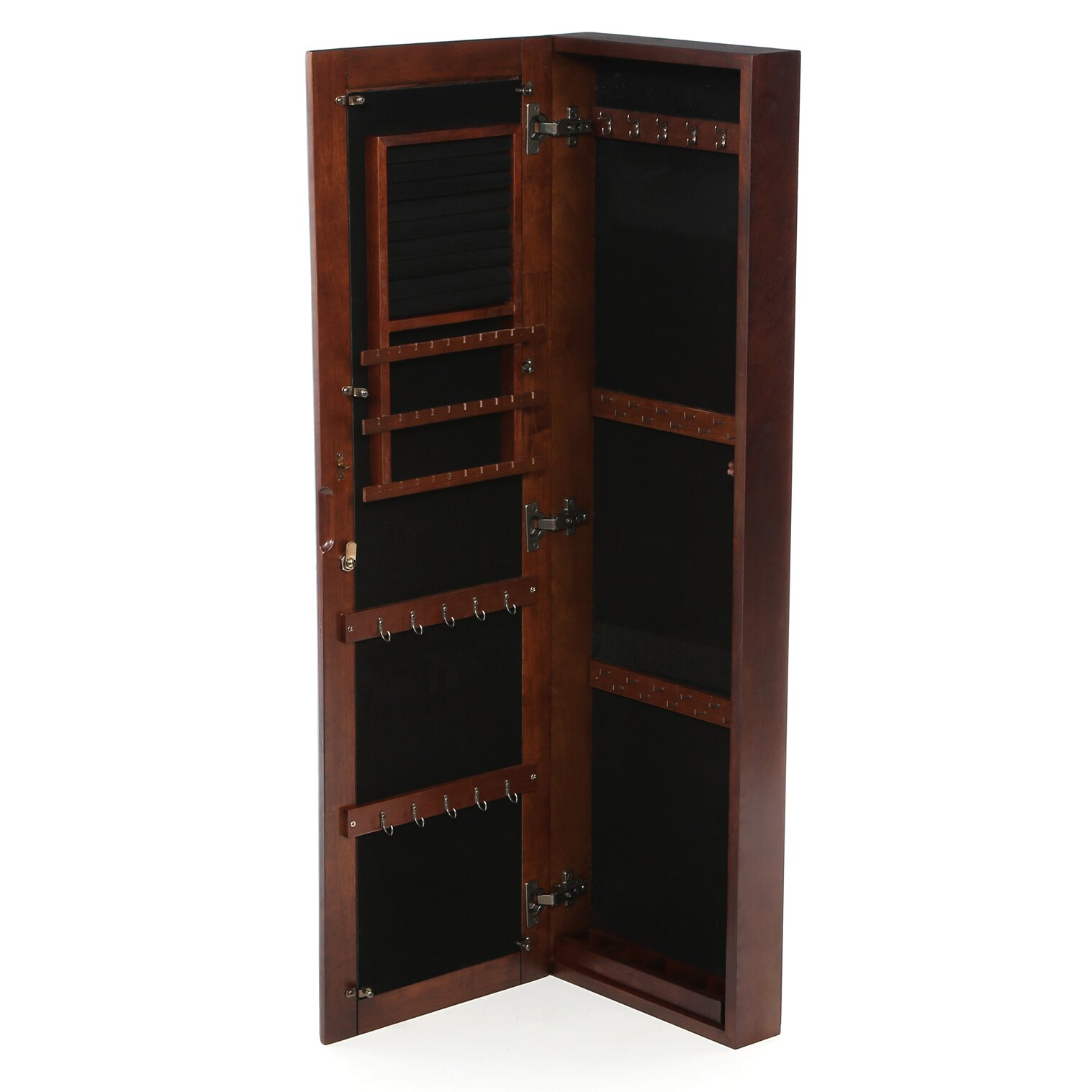 alcott hill chauncey wall mounted jewelry armoire with mirror reviews wayfair. Black Bedroom Furniture Sets. Home Design Ideas