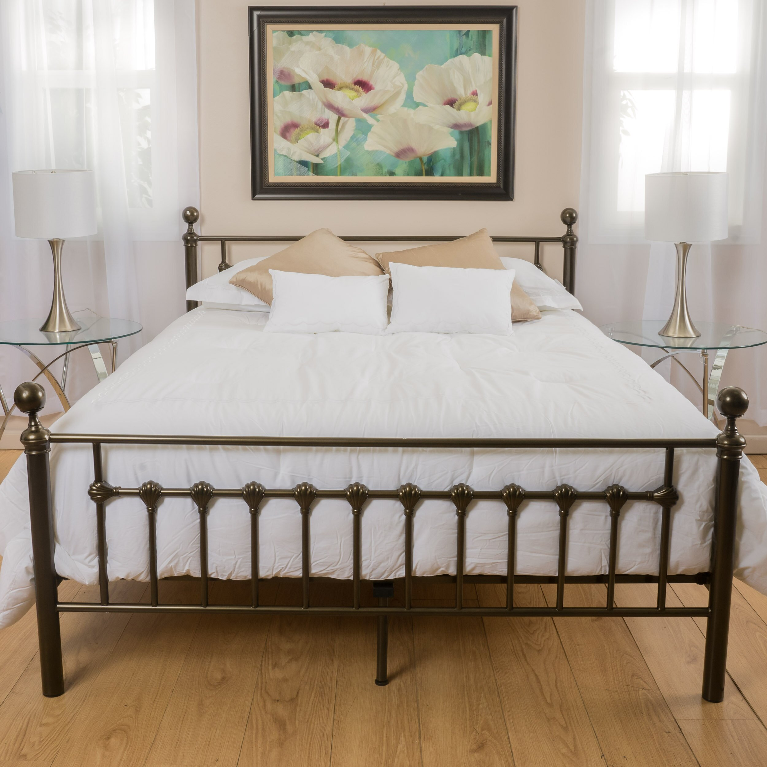charlton home keswick copper gold bed frame reviews 11703 | keswick copper gold bed frame chlh1406