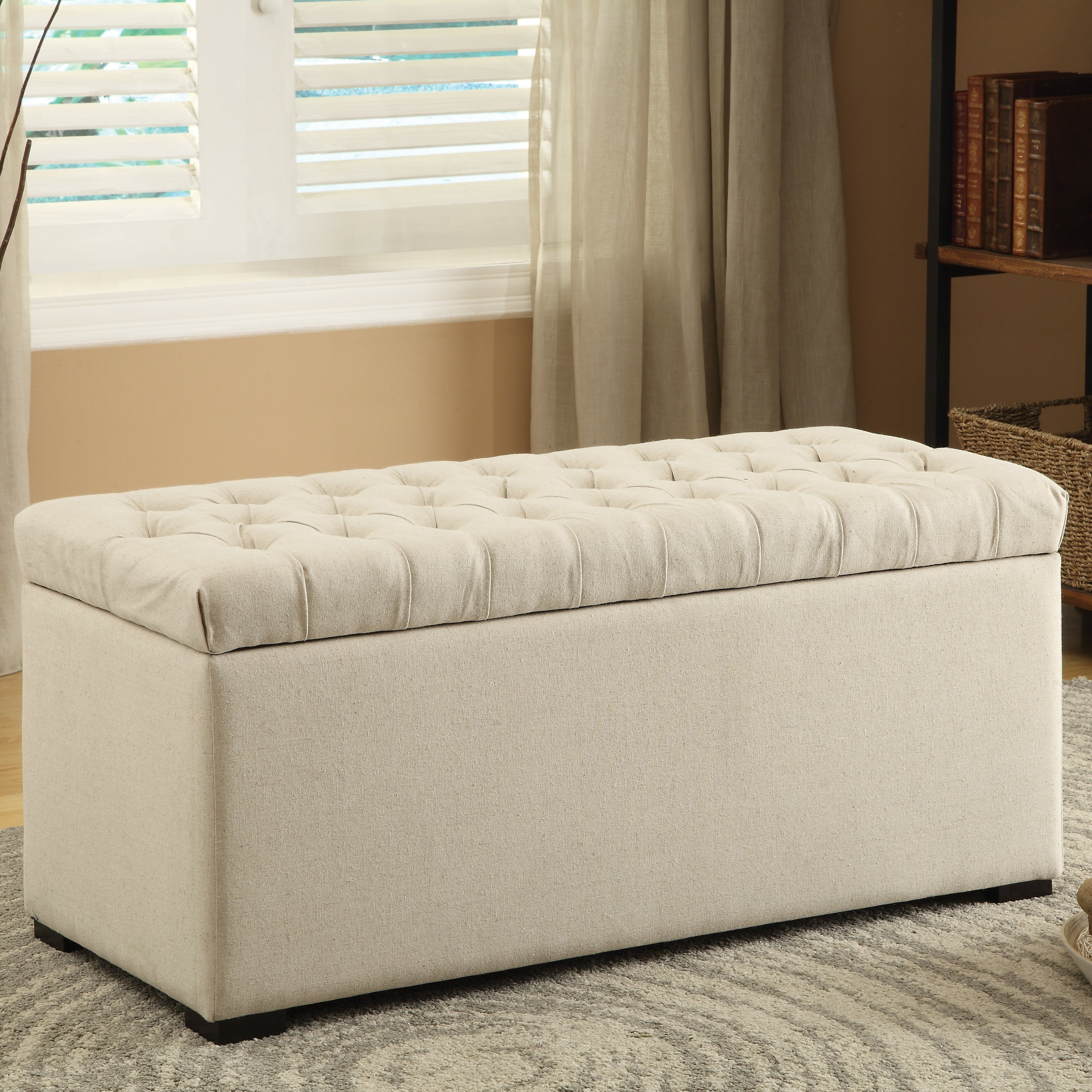charlton home taunton one seat wood storage bedroom bench reviews wayfair. Black Bedroom Furniture Sets. Home Design Ideas