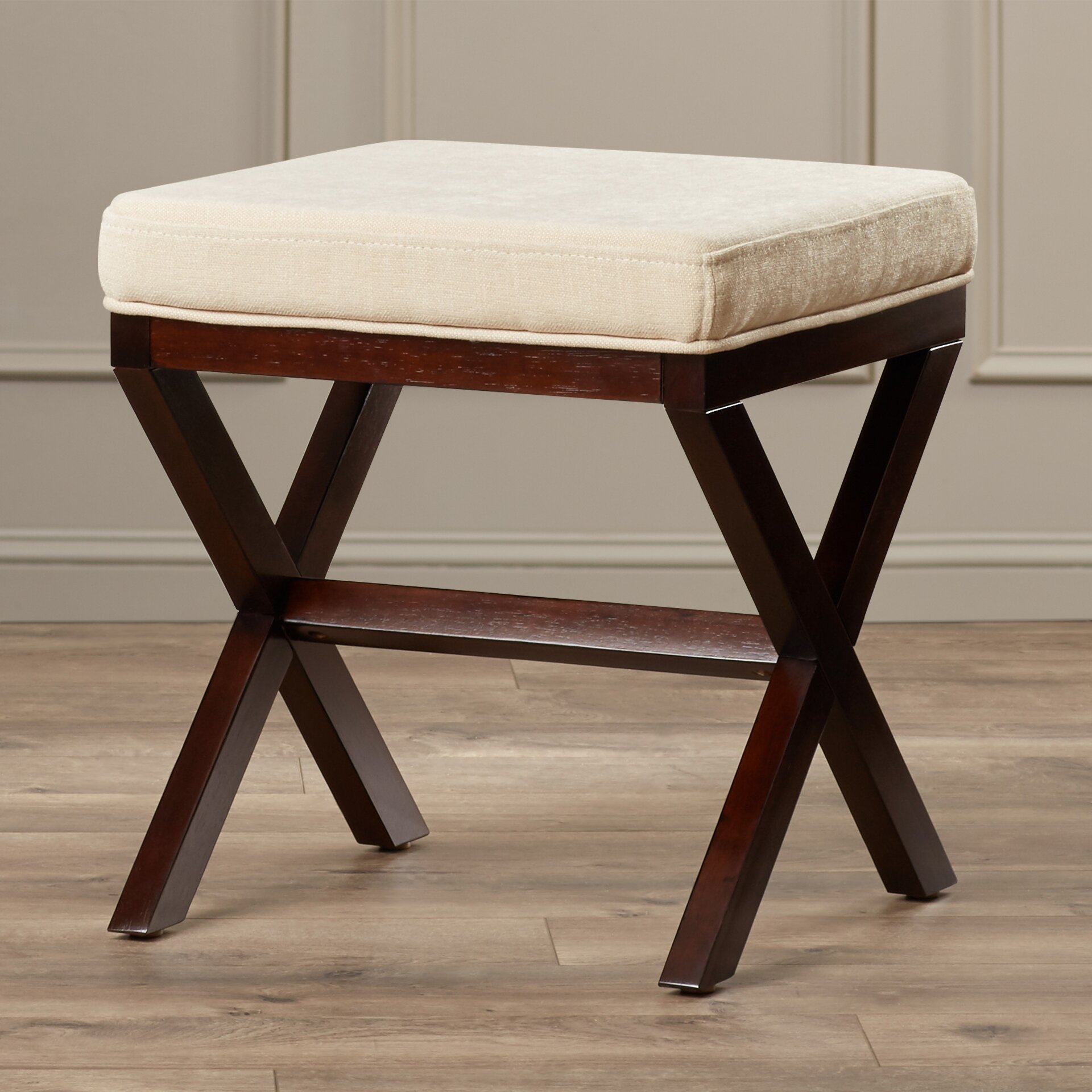 Amazing photo of Charlton Home Wood Vanity Stool & Reviews Wayfair with #2B170E color and 1920x1920 pixels