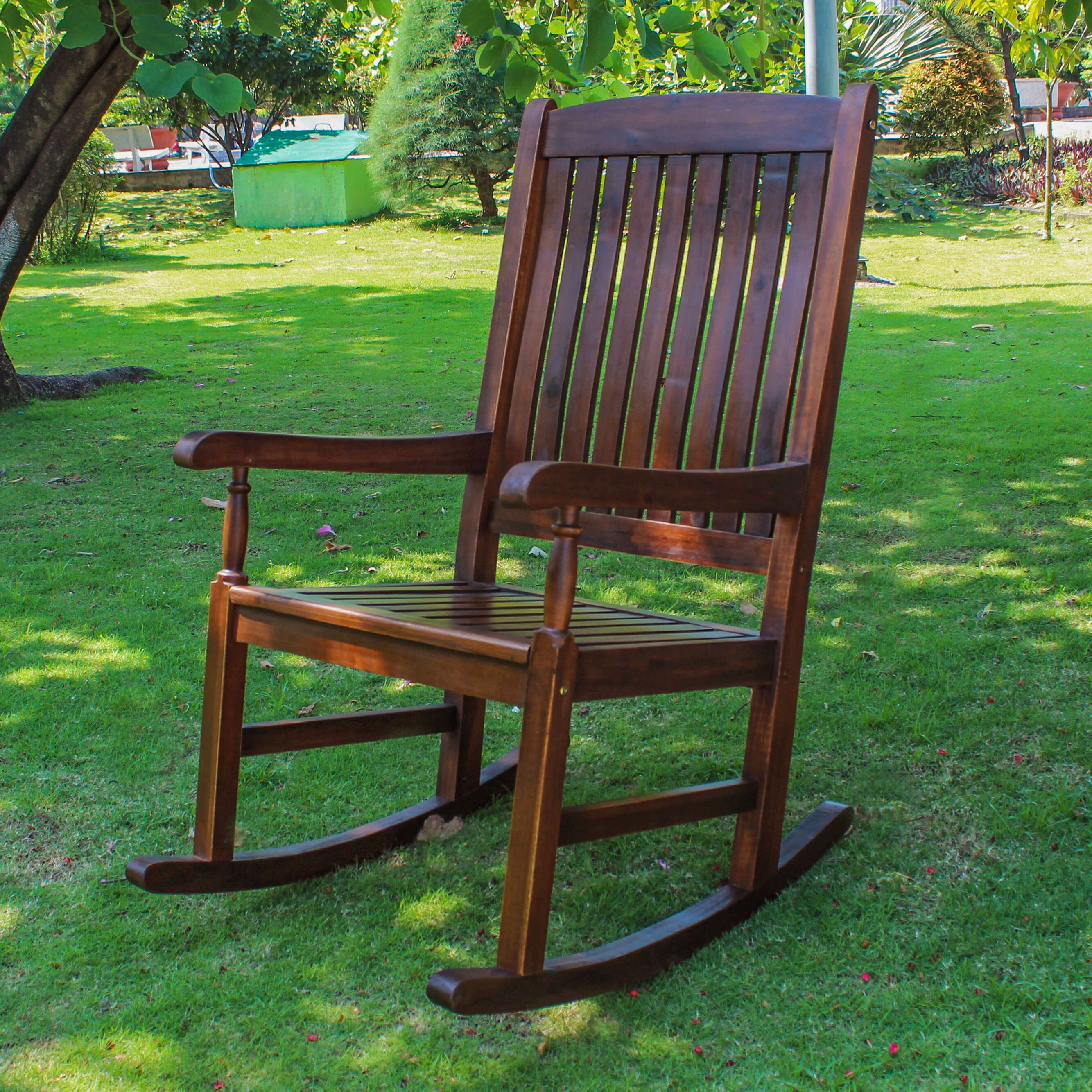 ... Home Gatefield Traditional Wood Rocking Chair & Reviews  Wayfair