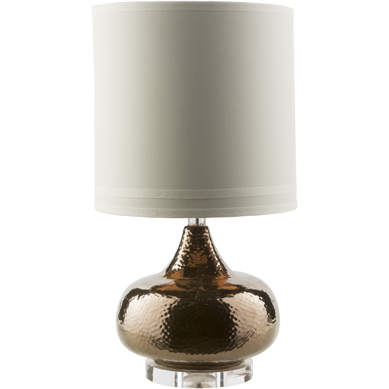 brayden studio 24 5 h table lamp with drum shade. Black Bedroom Furniture Sets. Home Design Ideas
