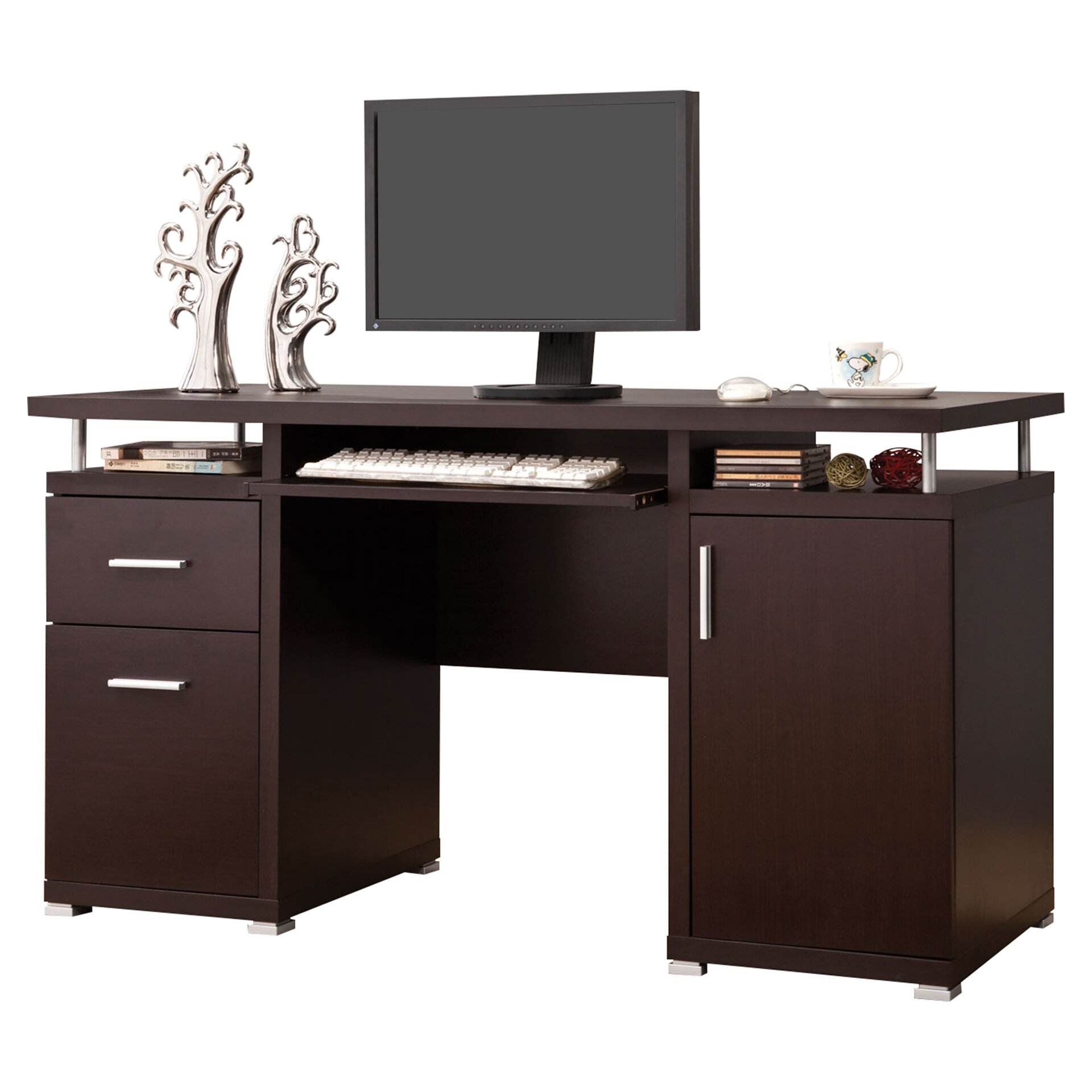 Brayden Studio 2 Drawer Computer Desk Amp Reviews Wayfair