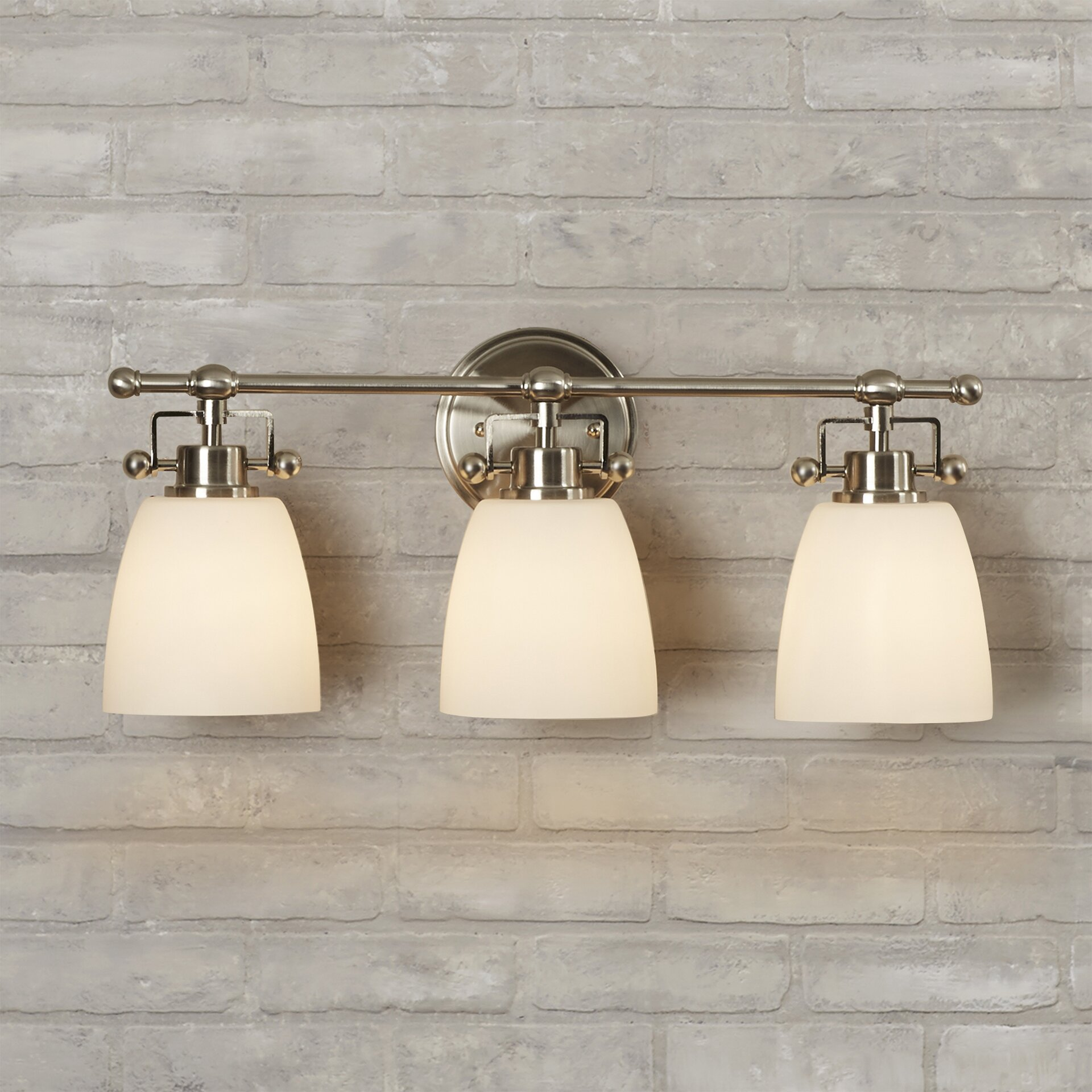 Three Light Bathroom Vanity Light: Brayden Studio Meyer 3 Light Bath Vanity Light & Reviews