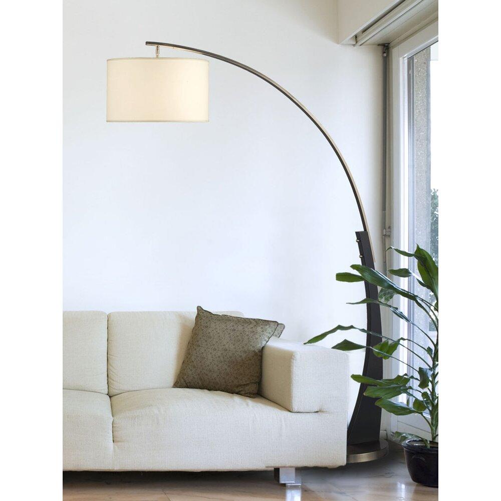 brayden studio gelb 1 light 60 39 39 arched floor lamp. Black Bedroom Furniture Sets. Home Design Ideas
