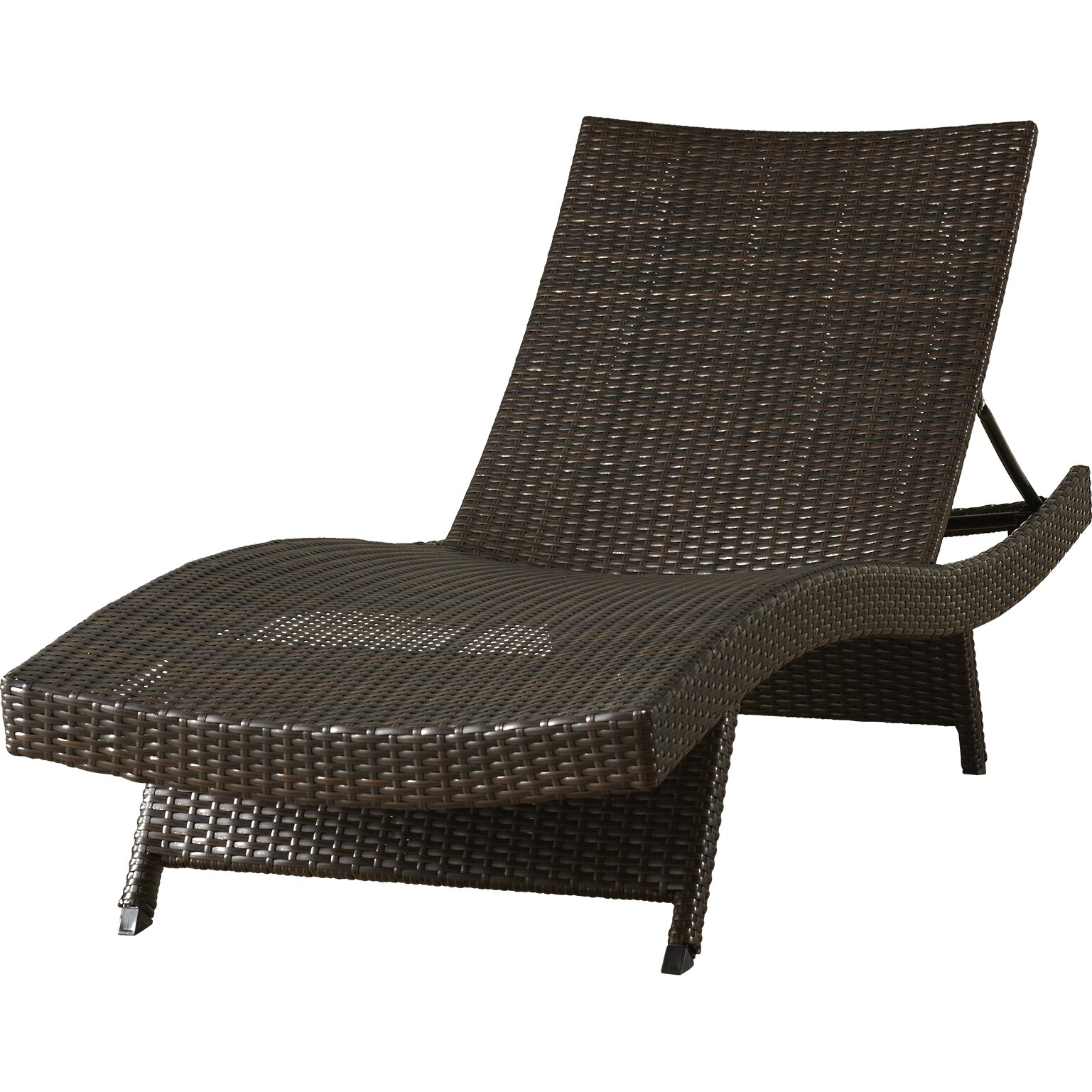 Brayden Studio Caddell Adjustable Chaise Lounge with Arms ...