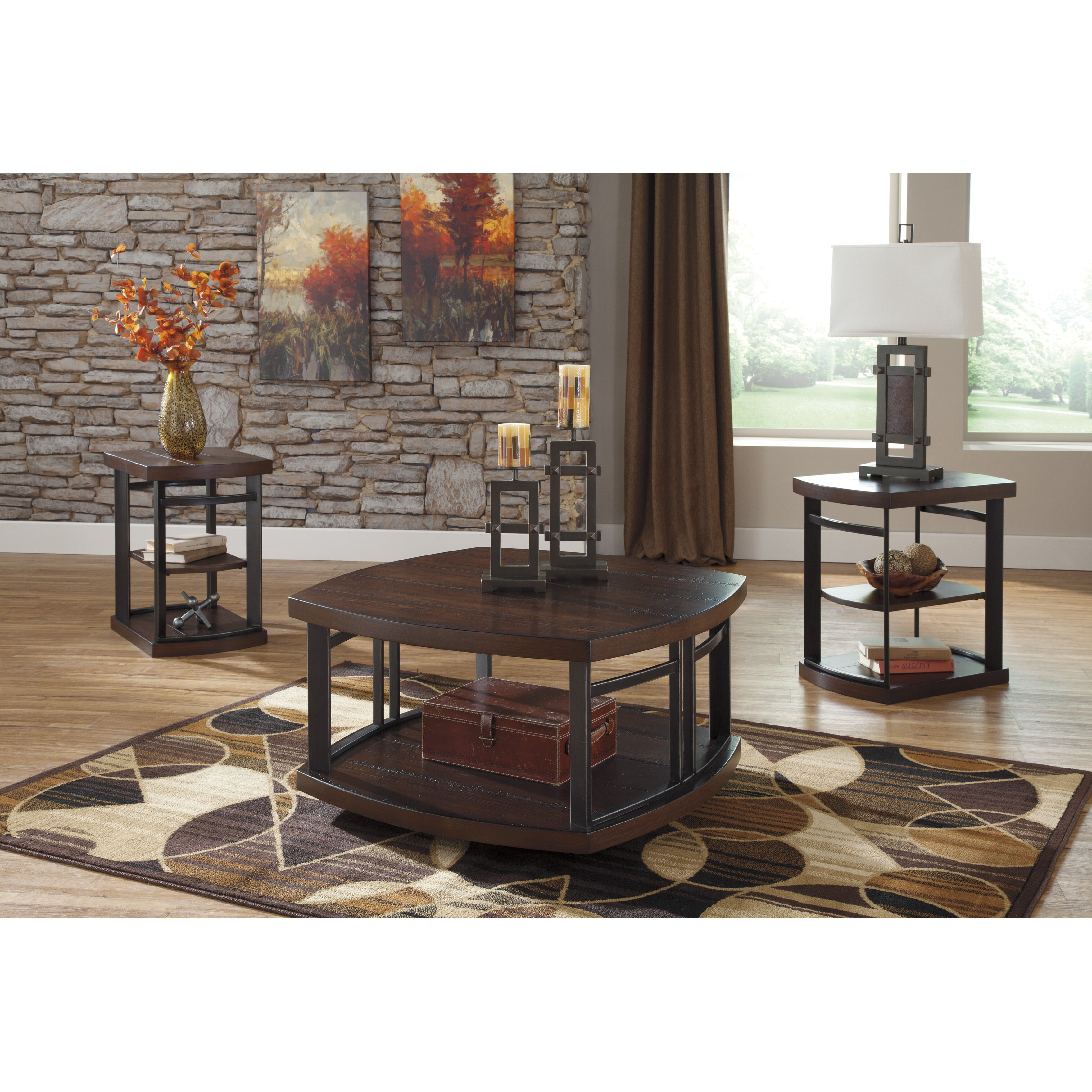 Coffee Table Sets For Living Room: Brayden Studio Dube 3 Piece Coffee Table Set & Reviews