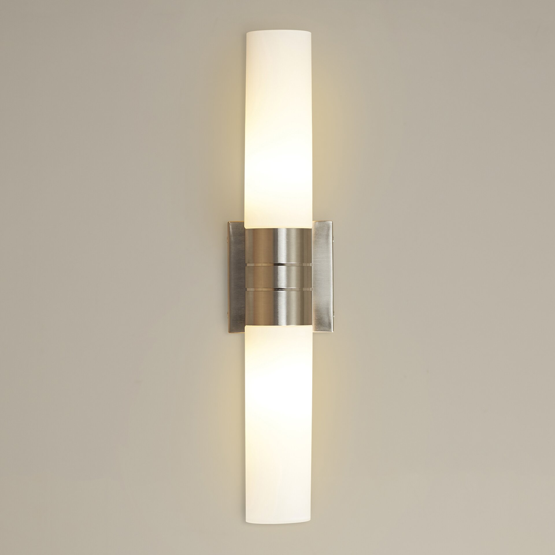 Wall Sconces 2 Lights : Wade Logan Henfield 2 Light Tube Wall Sconce & Reviews Wayfair