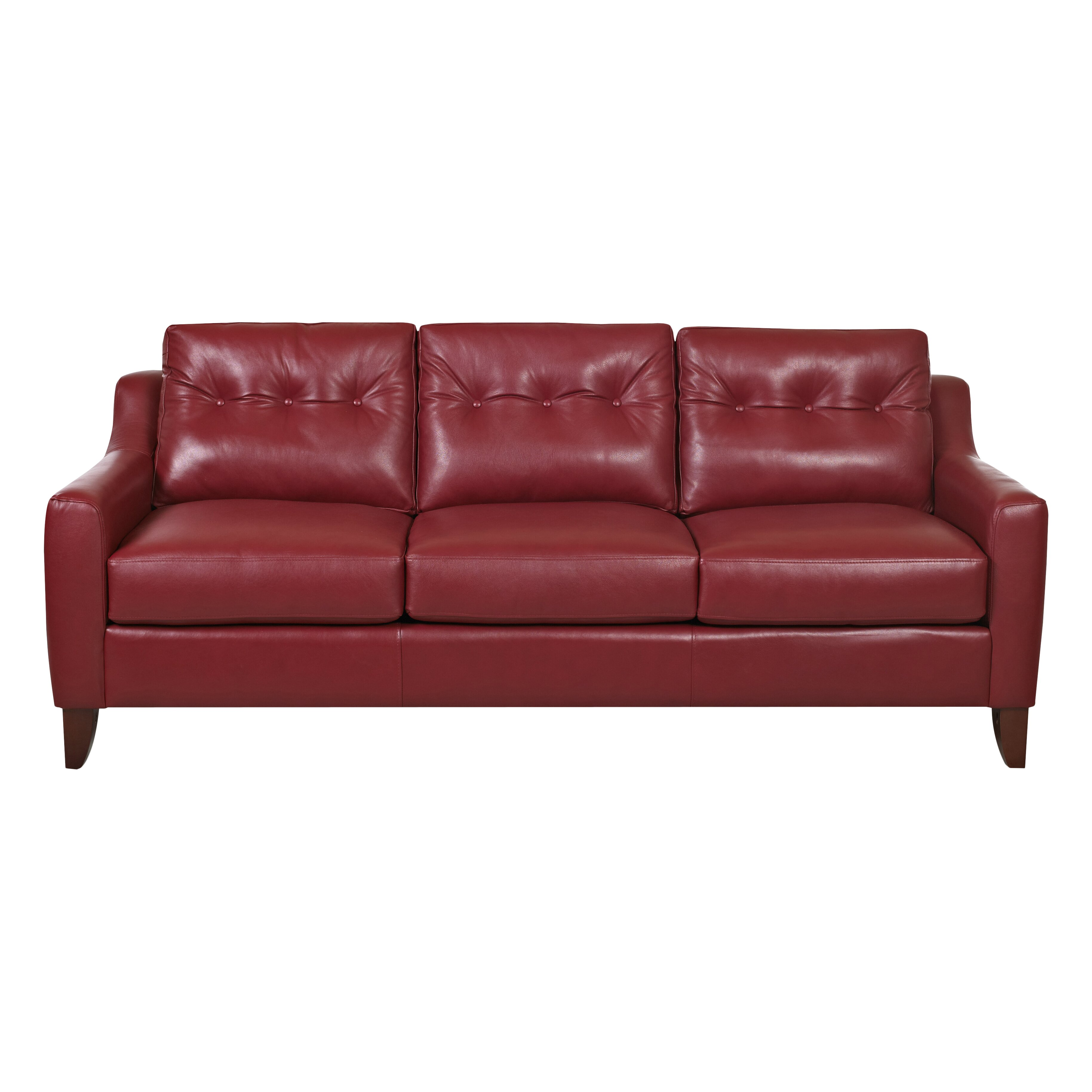 Wade Logan Lyle Leather Sofa Reviews Wayfair