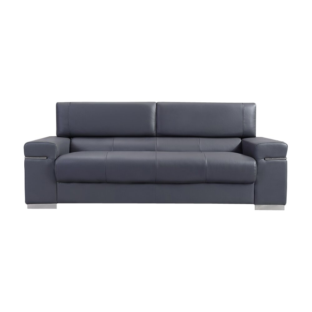 Leather Sofa Orlando The Collection Gray American