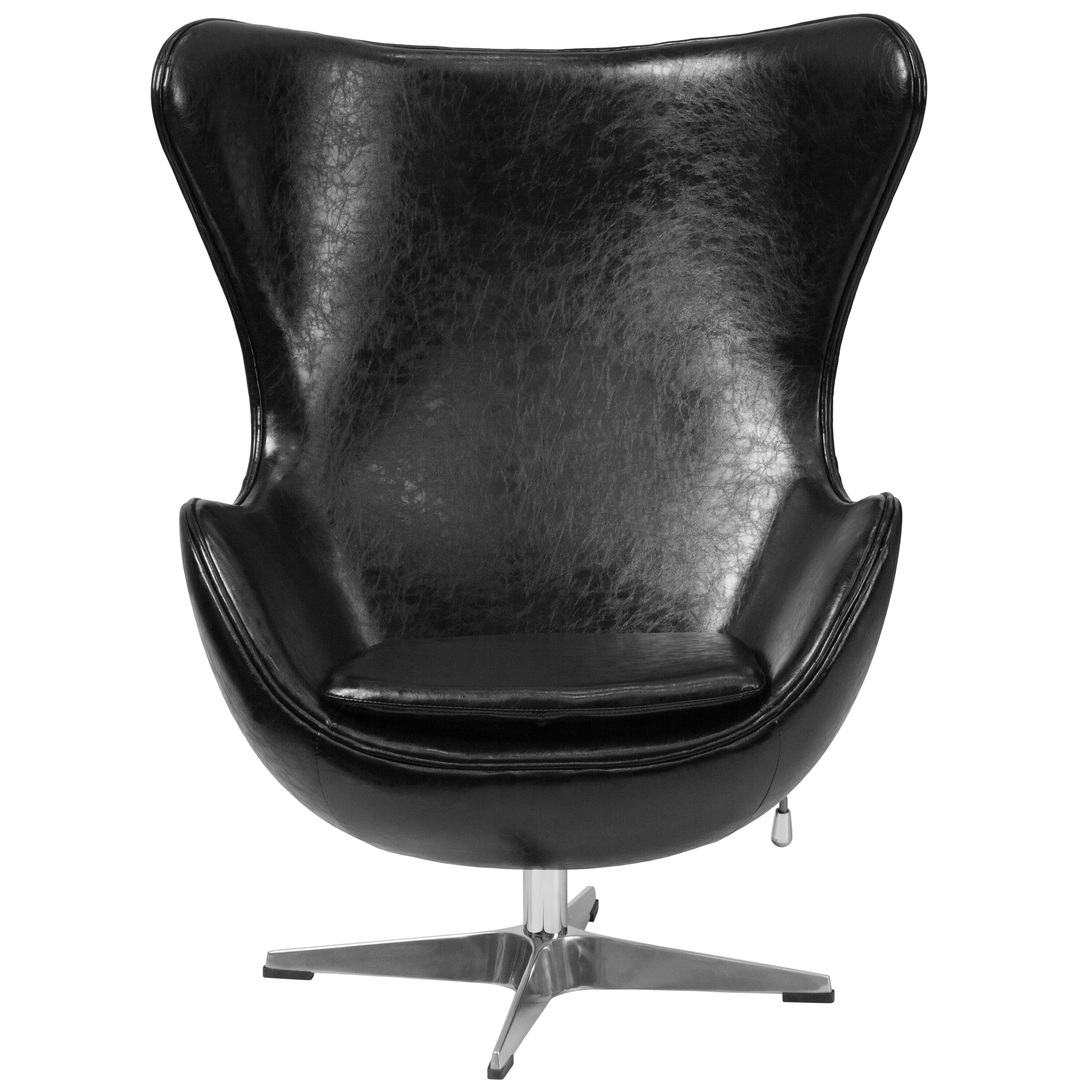 leather egg chair wade logan leather egg chair amp reviews wayfair 16624 | Leather Egg Chair WADL5502