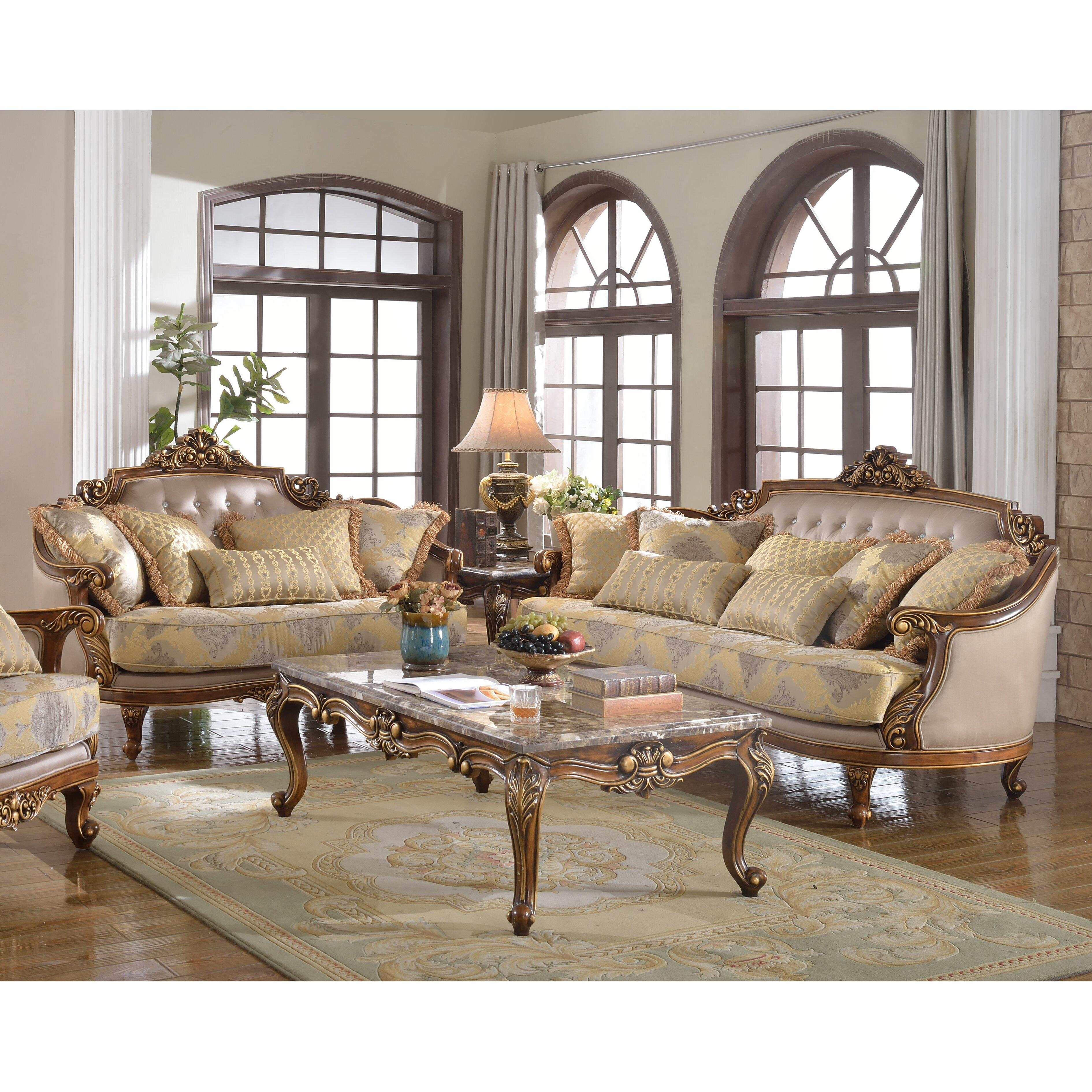 Traditional Sofa And Loveseat Set Wayfair