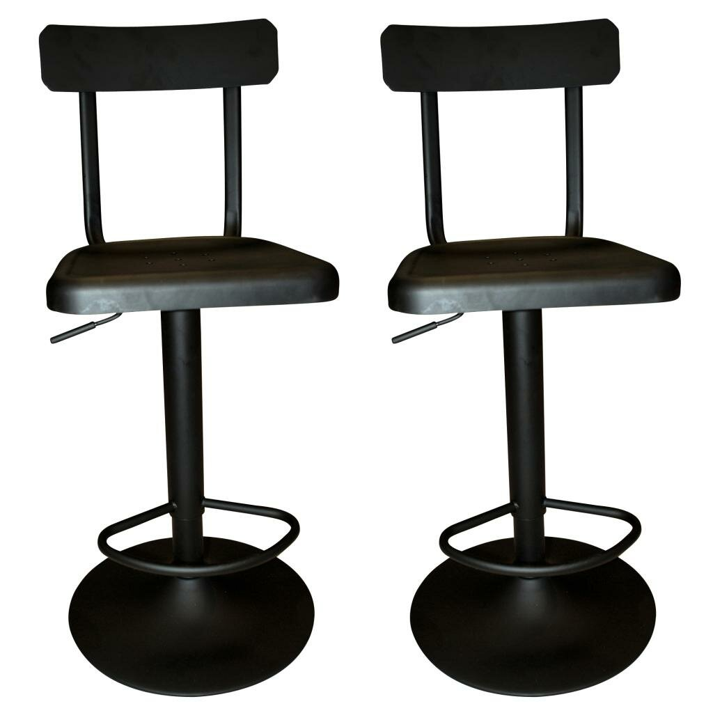 Nspire Industrial Adjustable Height Swivel Bar Stool