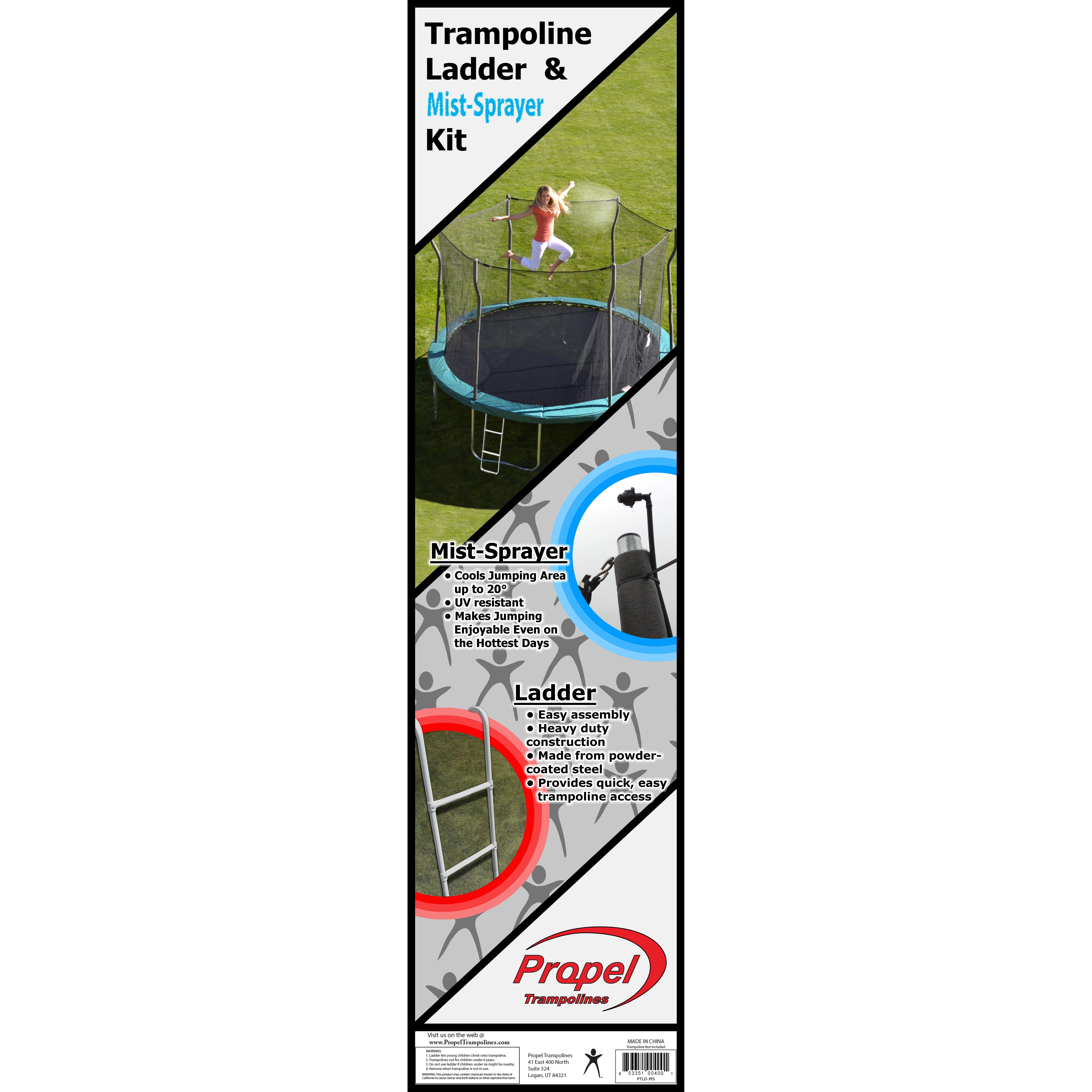 "Propel Trampolines 36"" Trampoline Ladder And Mister Kit"