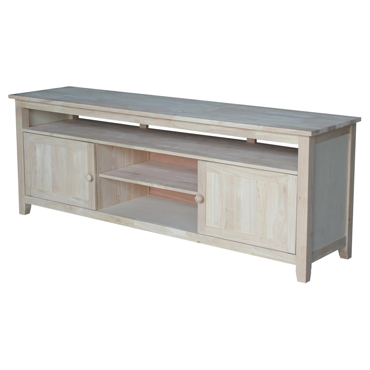 International Concepts TV Stand With 2 Doors 1 Shelf And 2 Cabinets