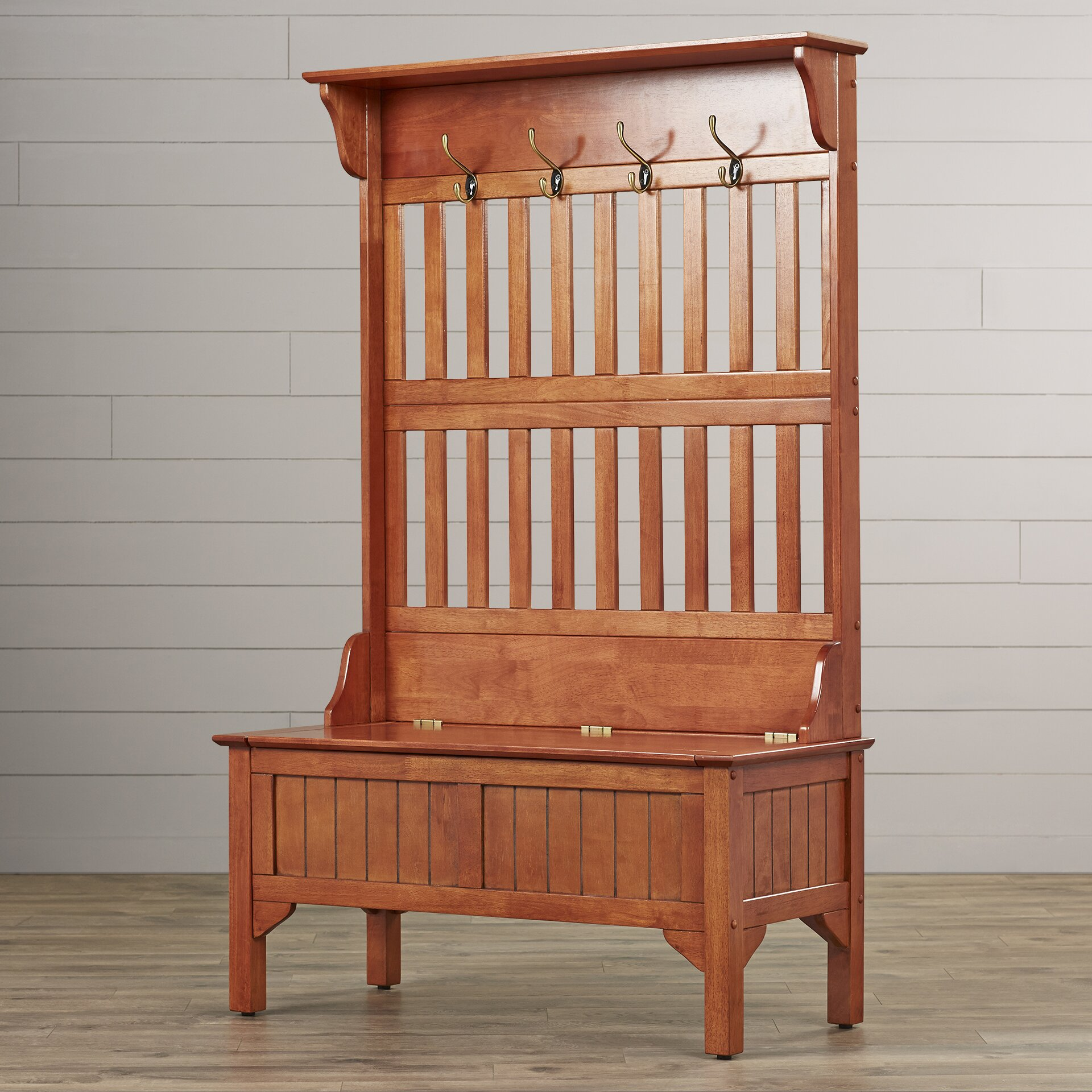 august grove mountain city hall tree full storage bench. Black Bedroom Furniture Sets. Home Design Ideas