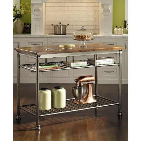 Trent Austin Design Chicopee Kitchen Island with Butcher Block Top & Reviews Wayfair