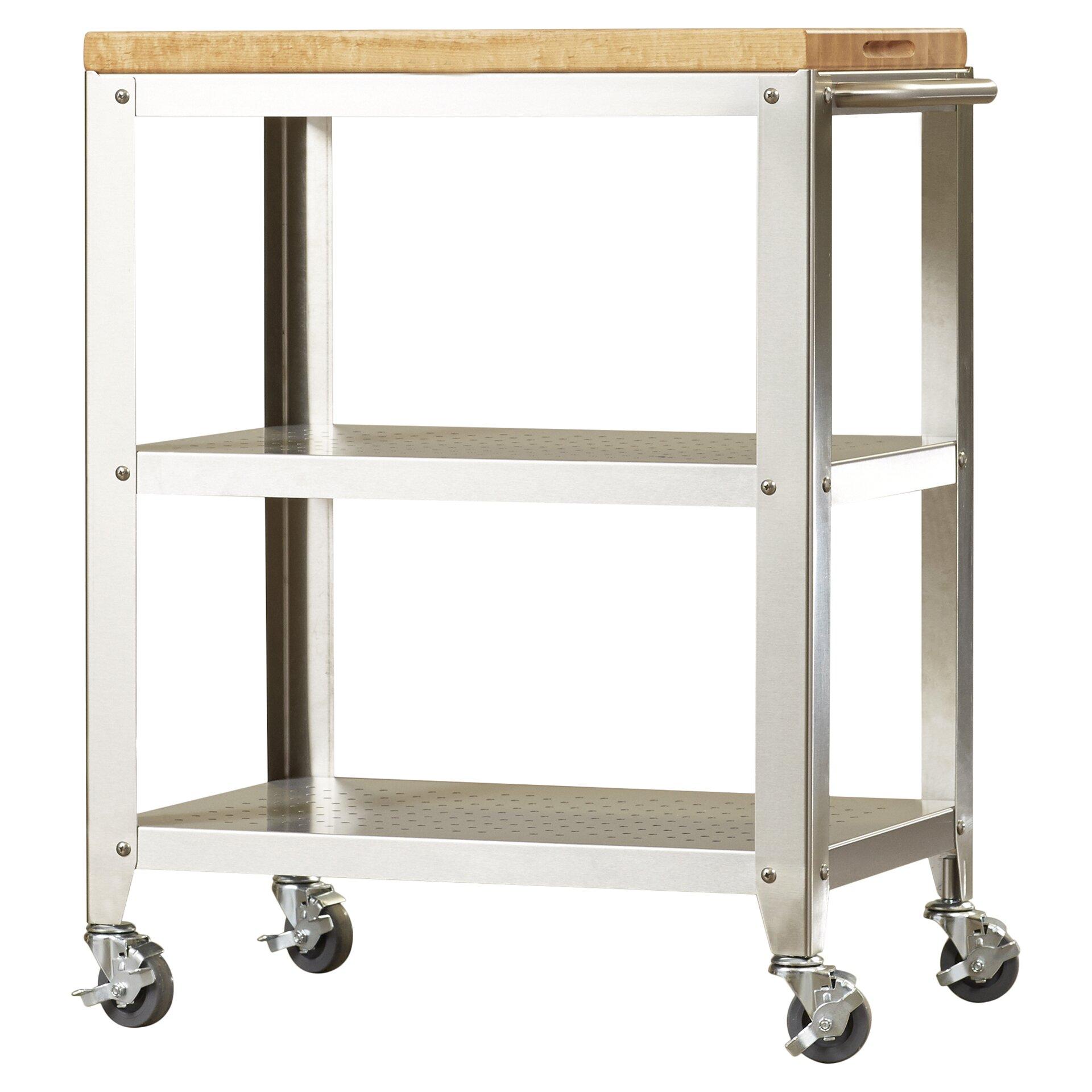 trent austin design kitchen cart with butcher block top