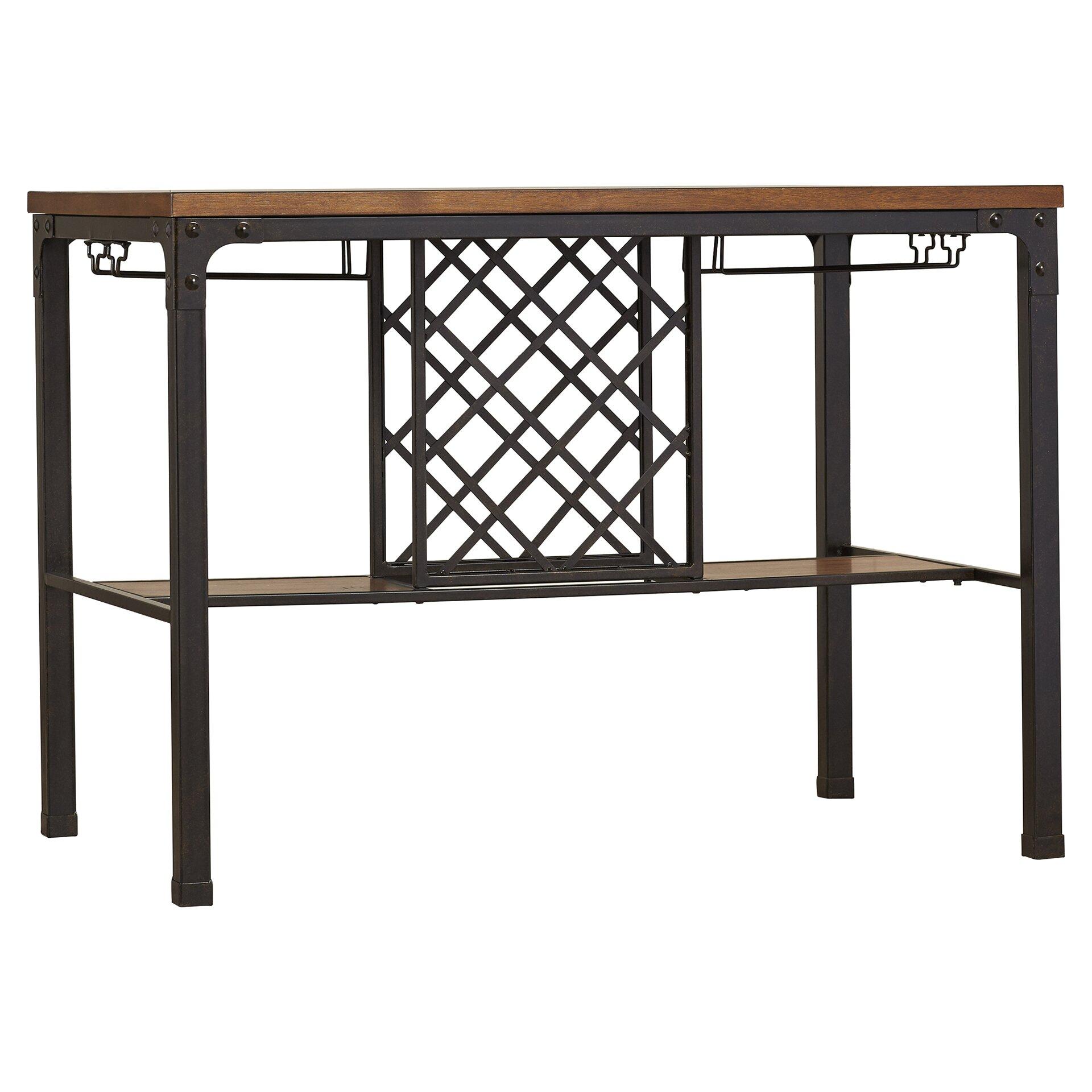... Austin Design Woodside Counter Height Pub Table & Reviews Wayfair