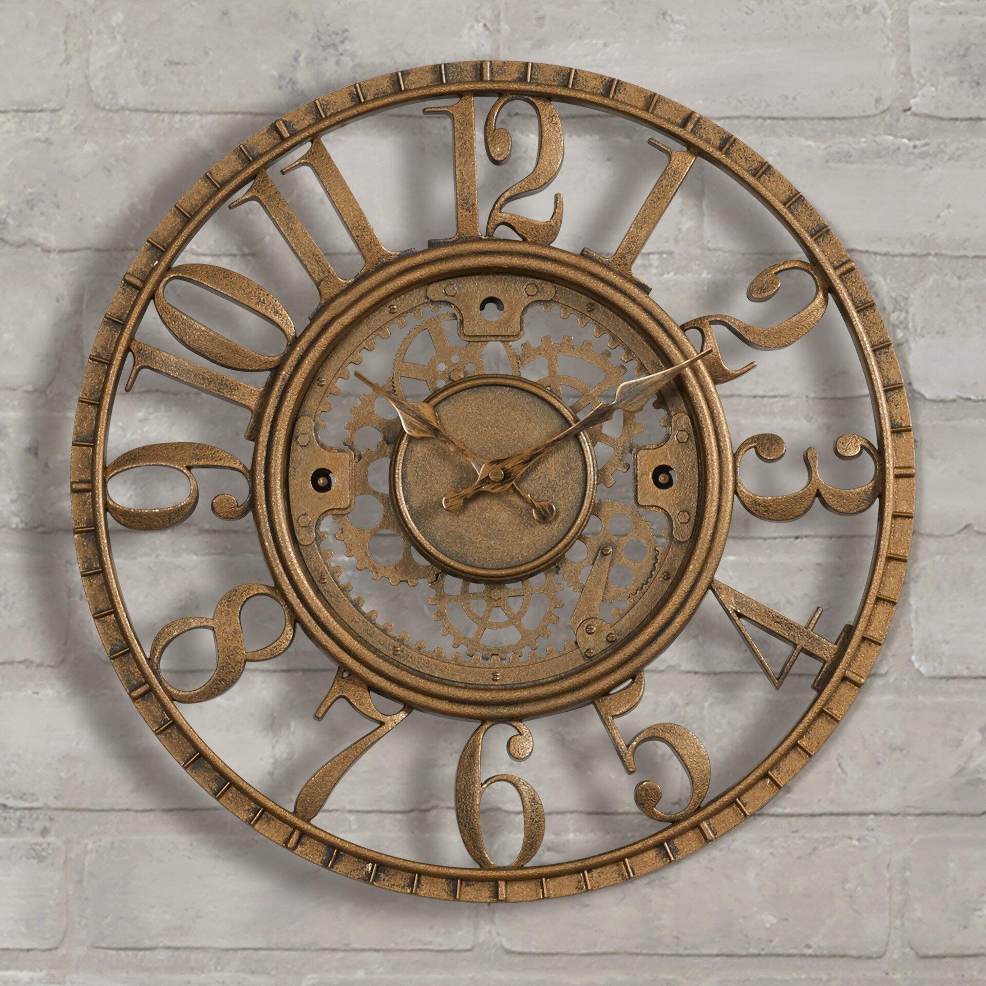 Trent Austin Design Knoll 15 5 Quot Open Dial Gear Wall Clock