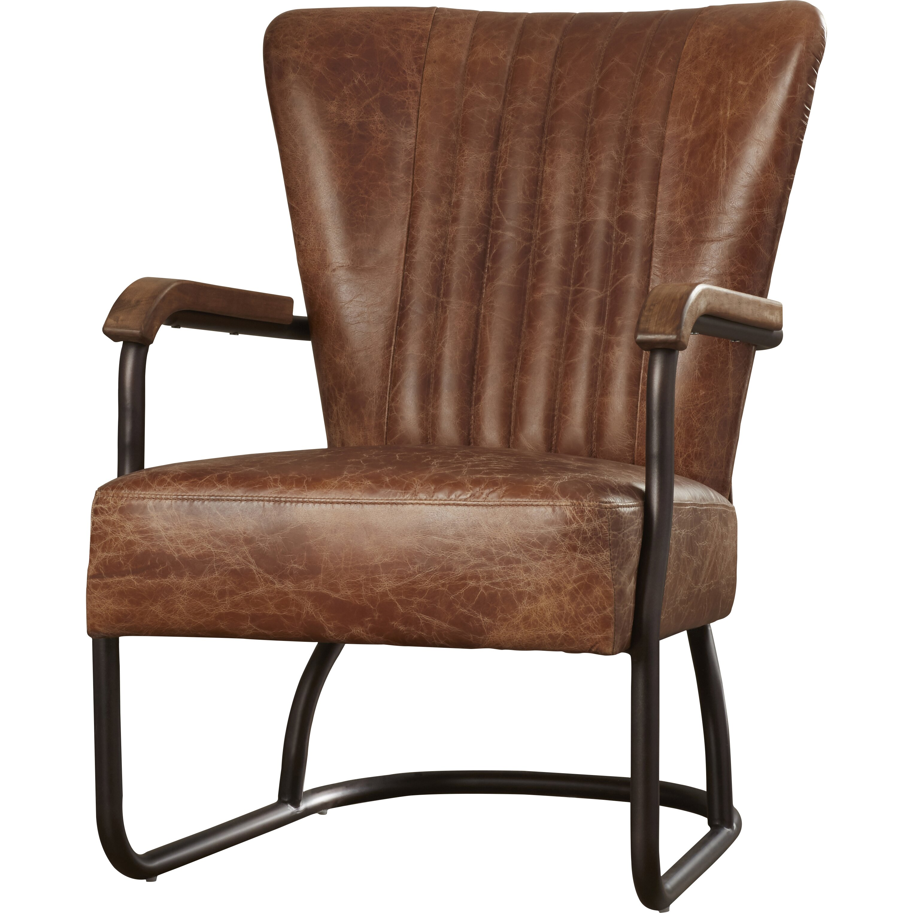 trent austin design cactus lane top grain leather arm chair reviews wayfair. Black Bedroom Furniture Sets. Home Design Ideas