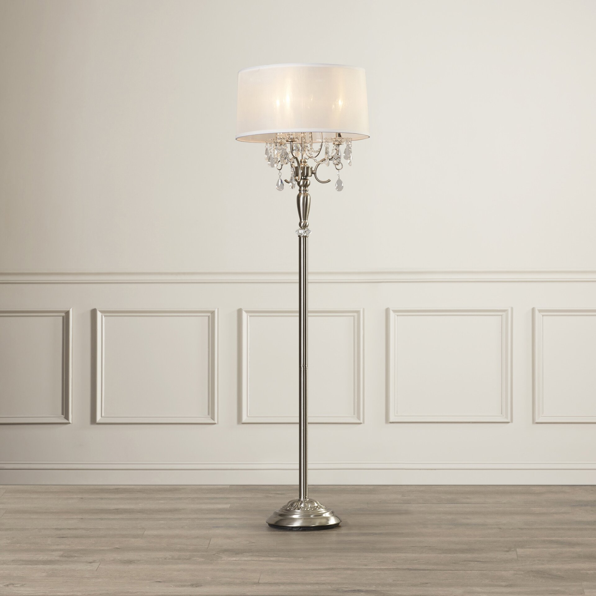 House Of Hampton Celadon Crystal 62 Quot Floor Lamp Amp Reviews