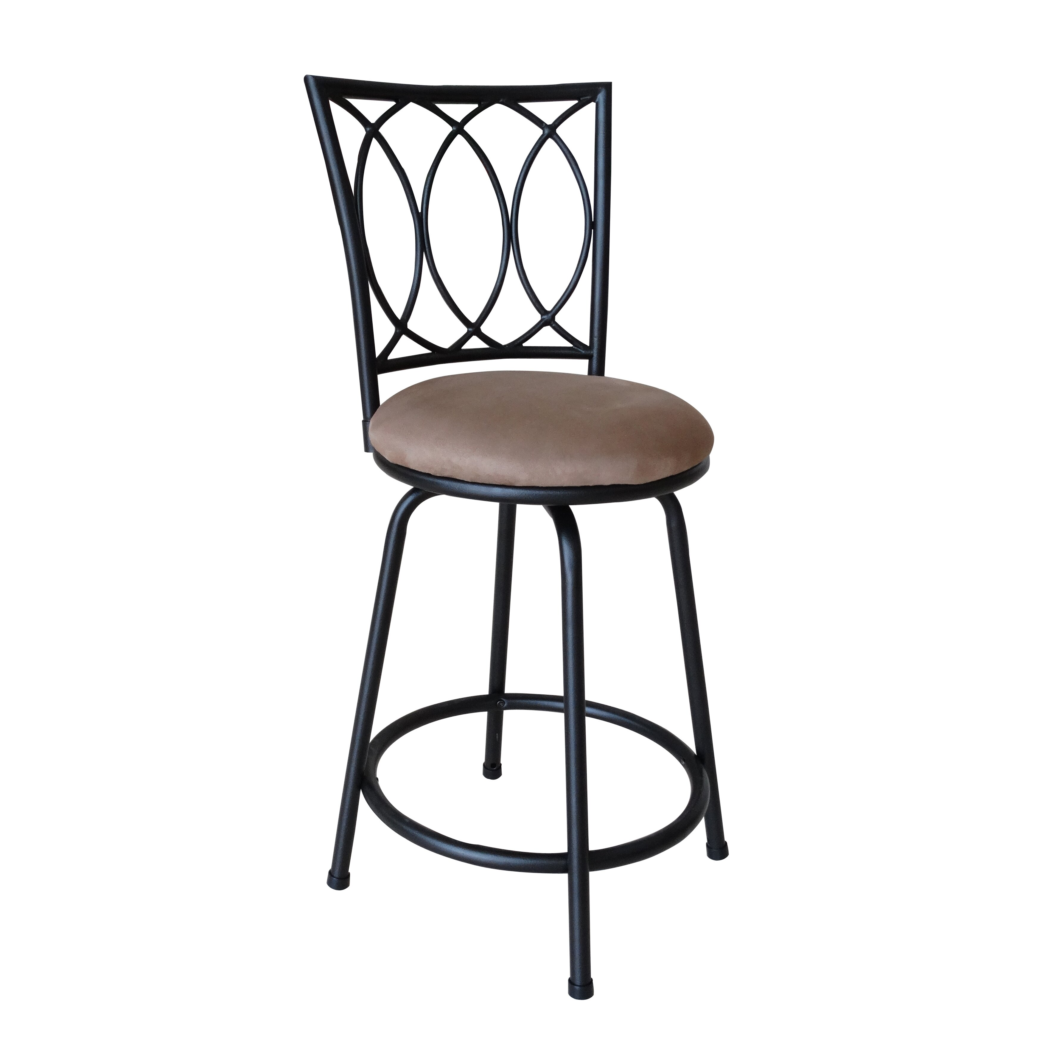 Roundhill Furniture Adjustable Height Bar Stool with  : Redico Adjustable Metal Barstool Powder Coated Brown PC036 from www.wayfair.com size 3508 x 3508 jpeg 555kB