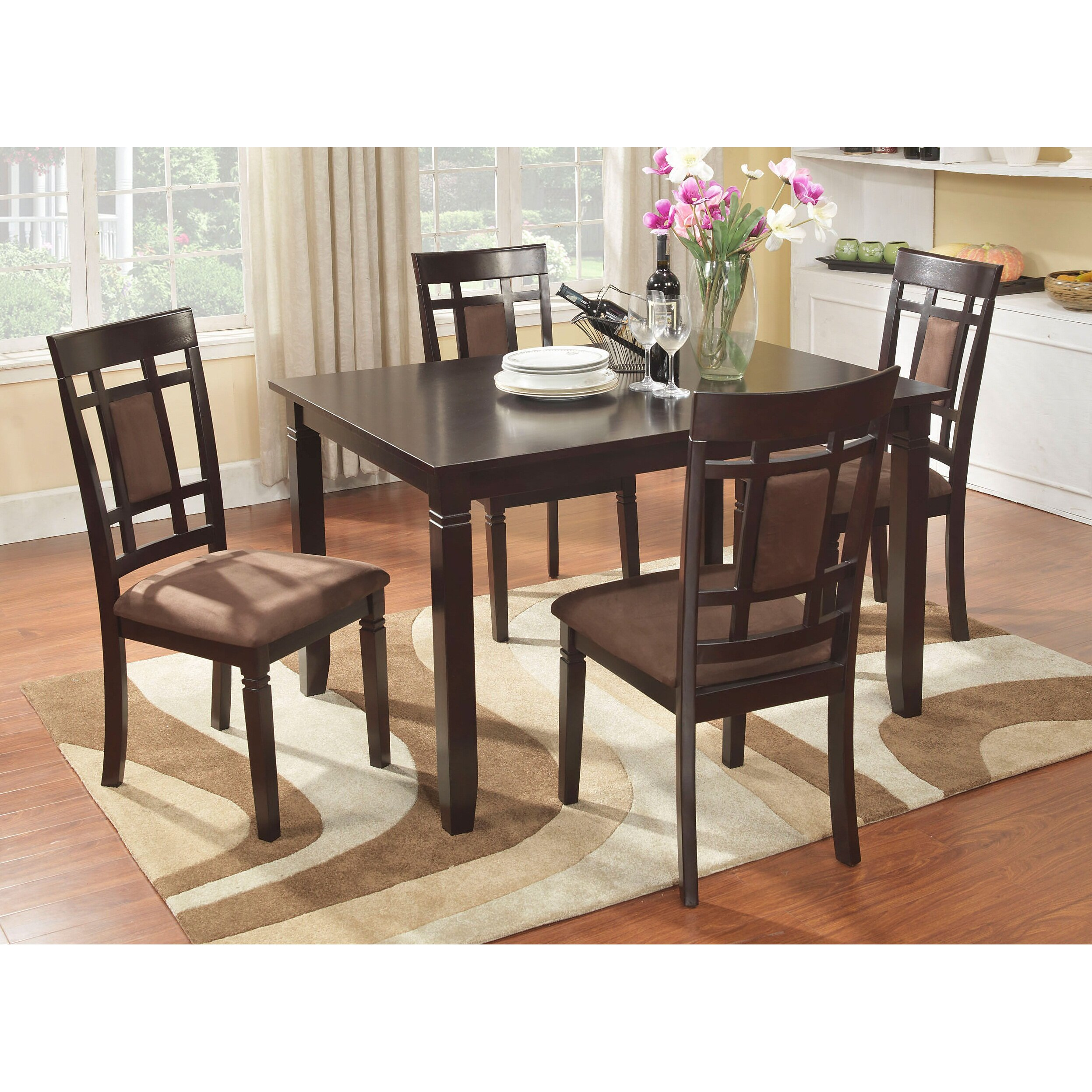 Roundhill Furniture Inworld 5 Piece Dining Set & Reviews