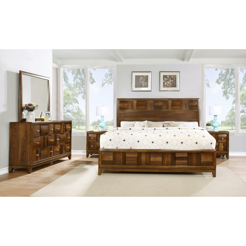 roundhill furniture calais panel 5 piece bedroom set reviews