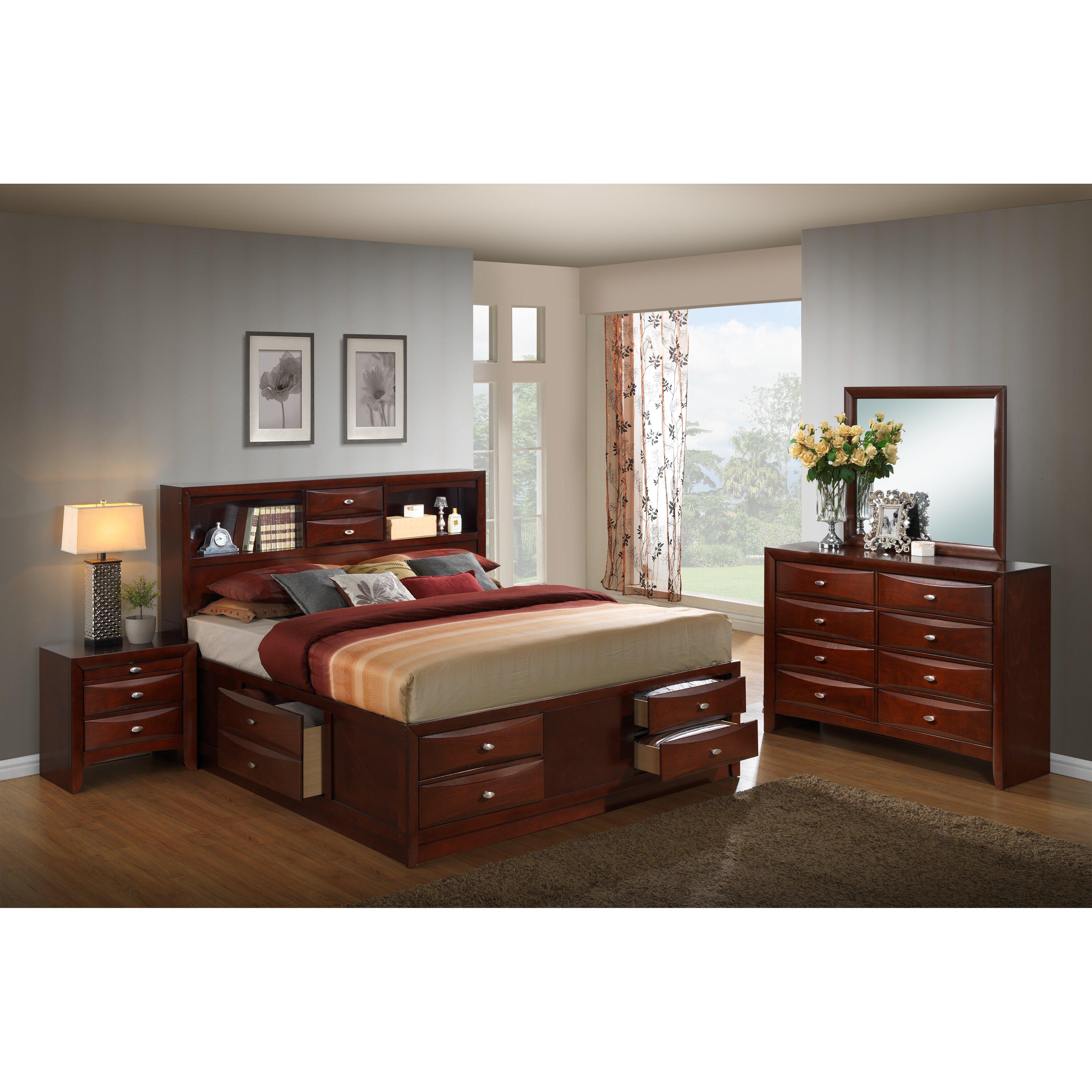 emily storage 4 piece bedroom set wayfair roundhill furniture emily storage 5 piece bedroom set