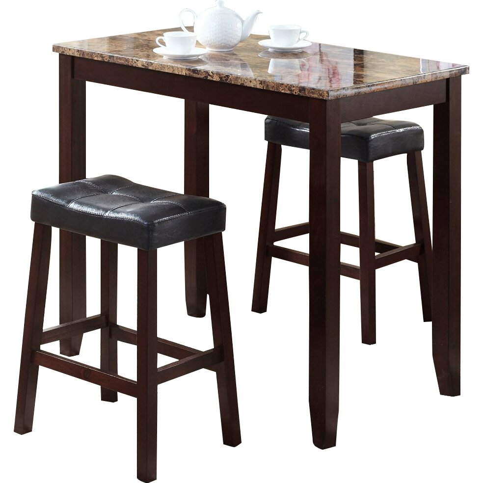 By Industry Pub Tables Sets Roundhill Furniture SKU RDHN1007