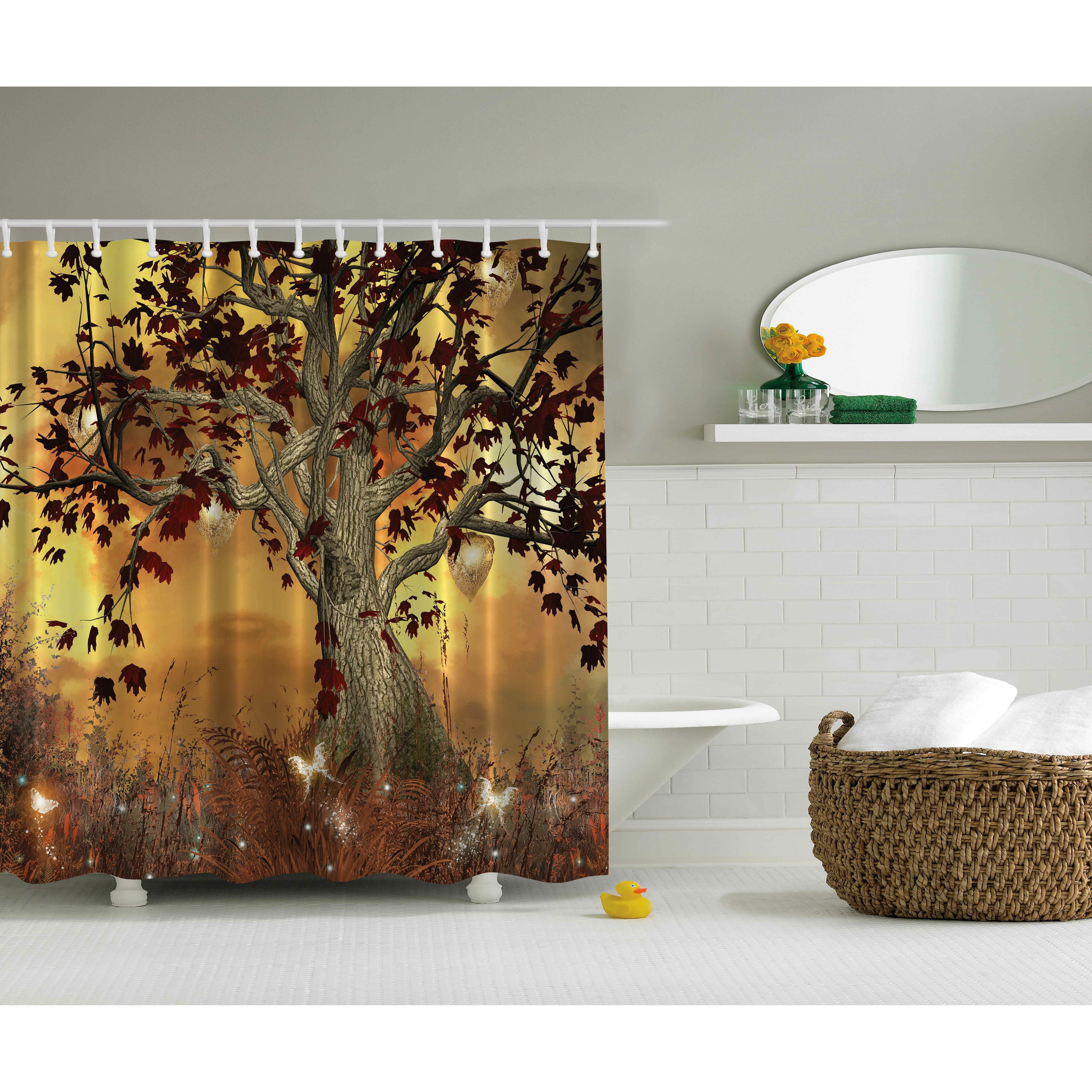 old scary twisted tree print shower curtain reviews wayfair