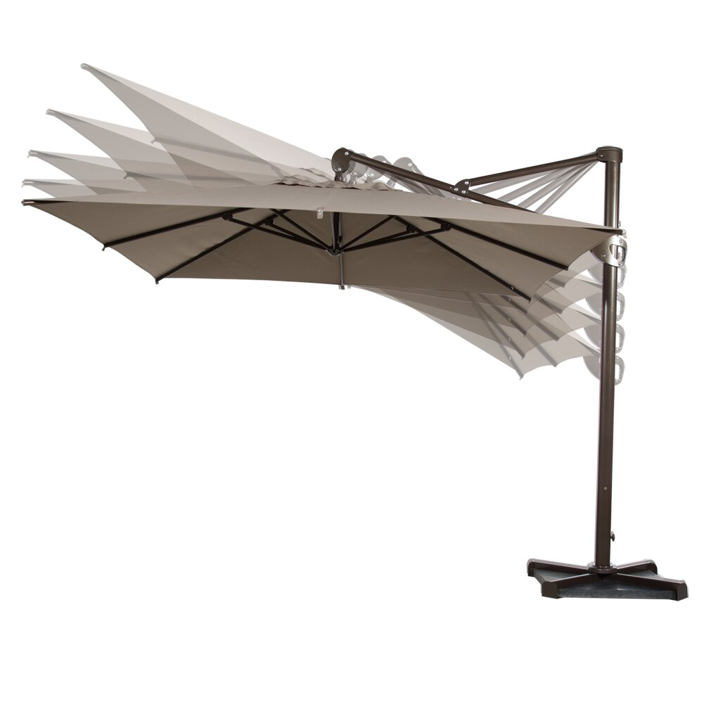 10 39 deluxe square offset cantilever umbrella wayfair