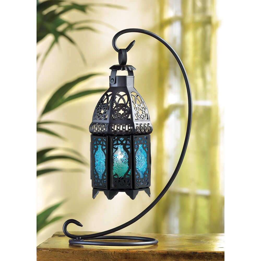 Bungalow Rose Vox Iron And Glass Lantern & Reviews