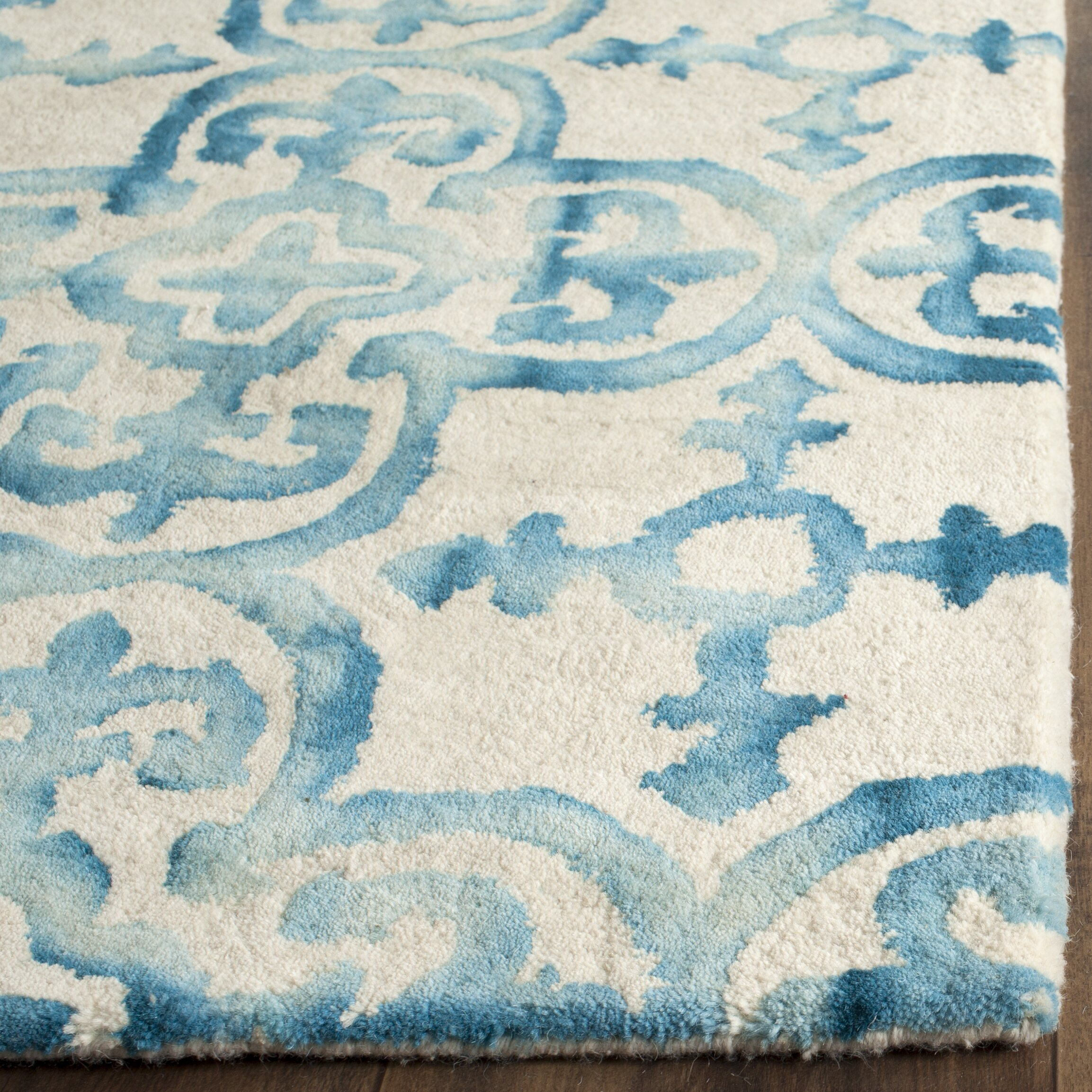 Turquoise Area Rug Amazon Com: Bungalow Rose Castries Hand-Tufted Ivory/Turquoise Area