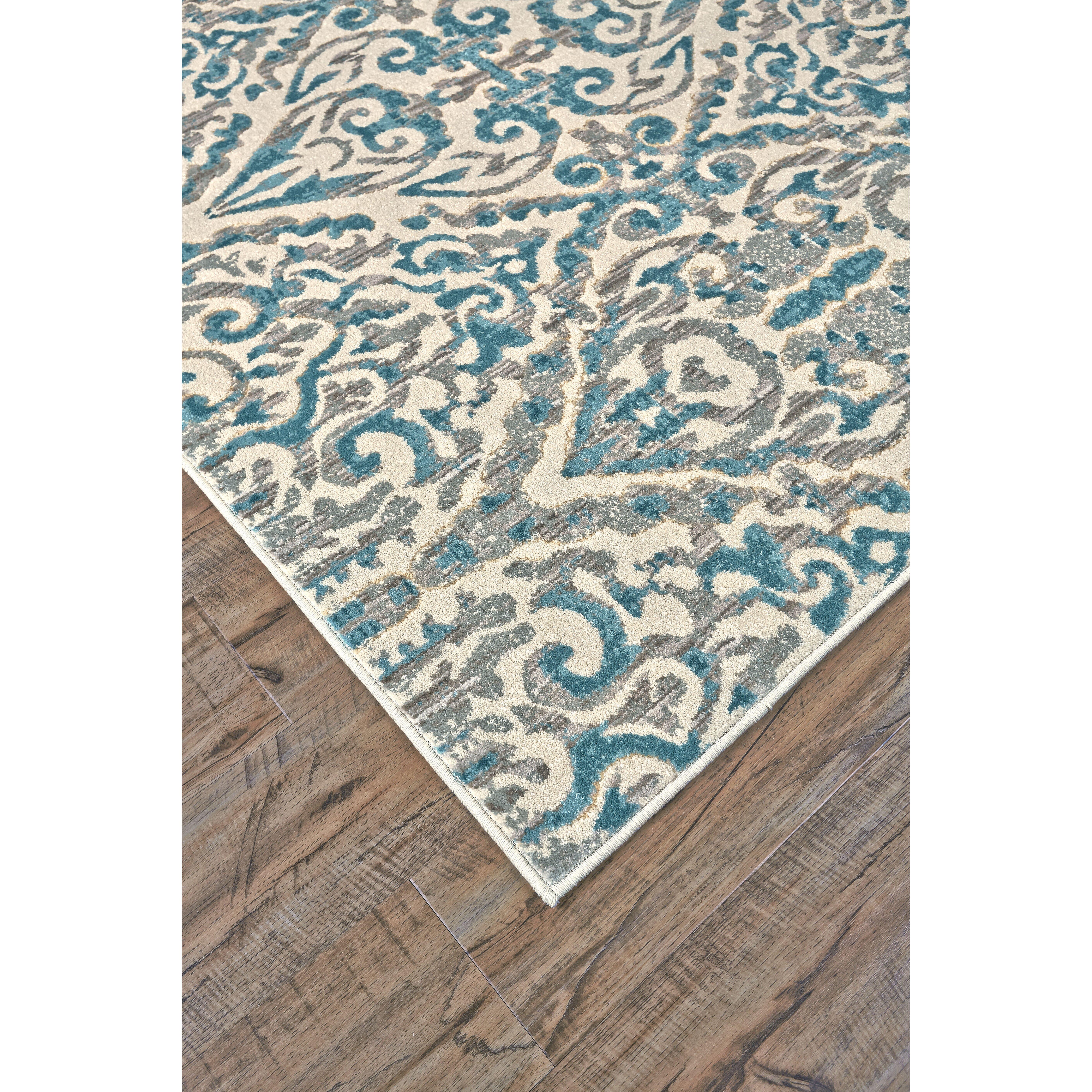 Saleya turquoise area rug wayfair for Turquoise area rug