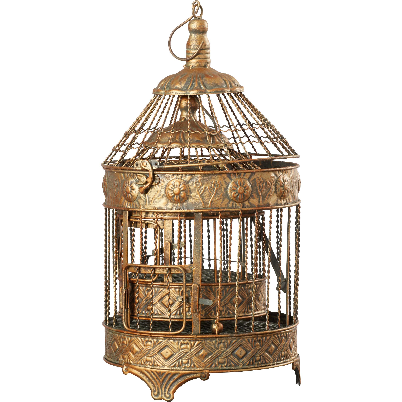 Bungalow Rose 2 Piece Decorative Metal Bird Cage Set & Reviews ...