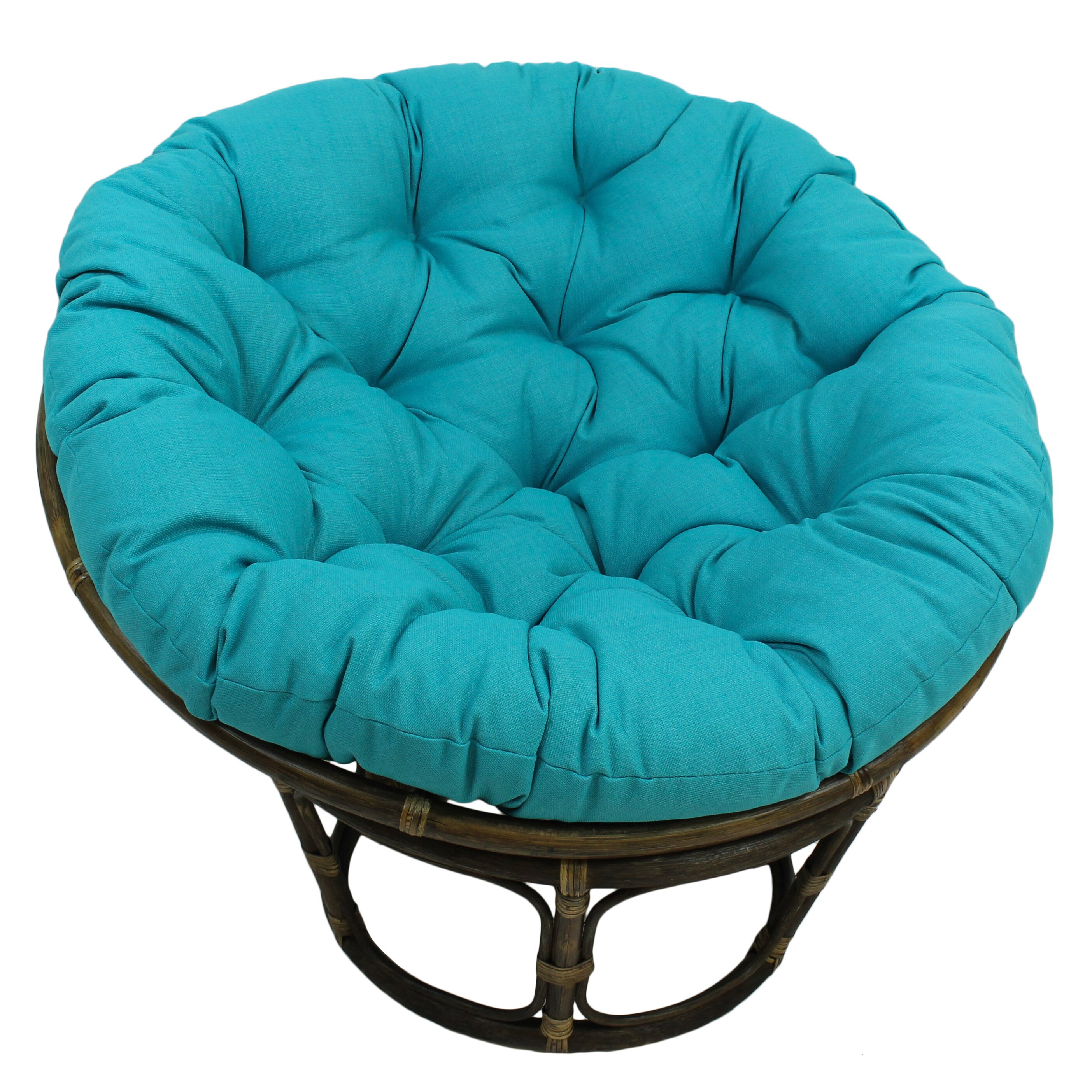 Bungalow Rose Benahid Outdoor Rattan Papasan Chair with