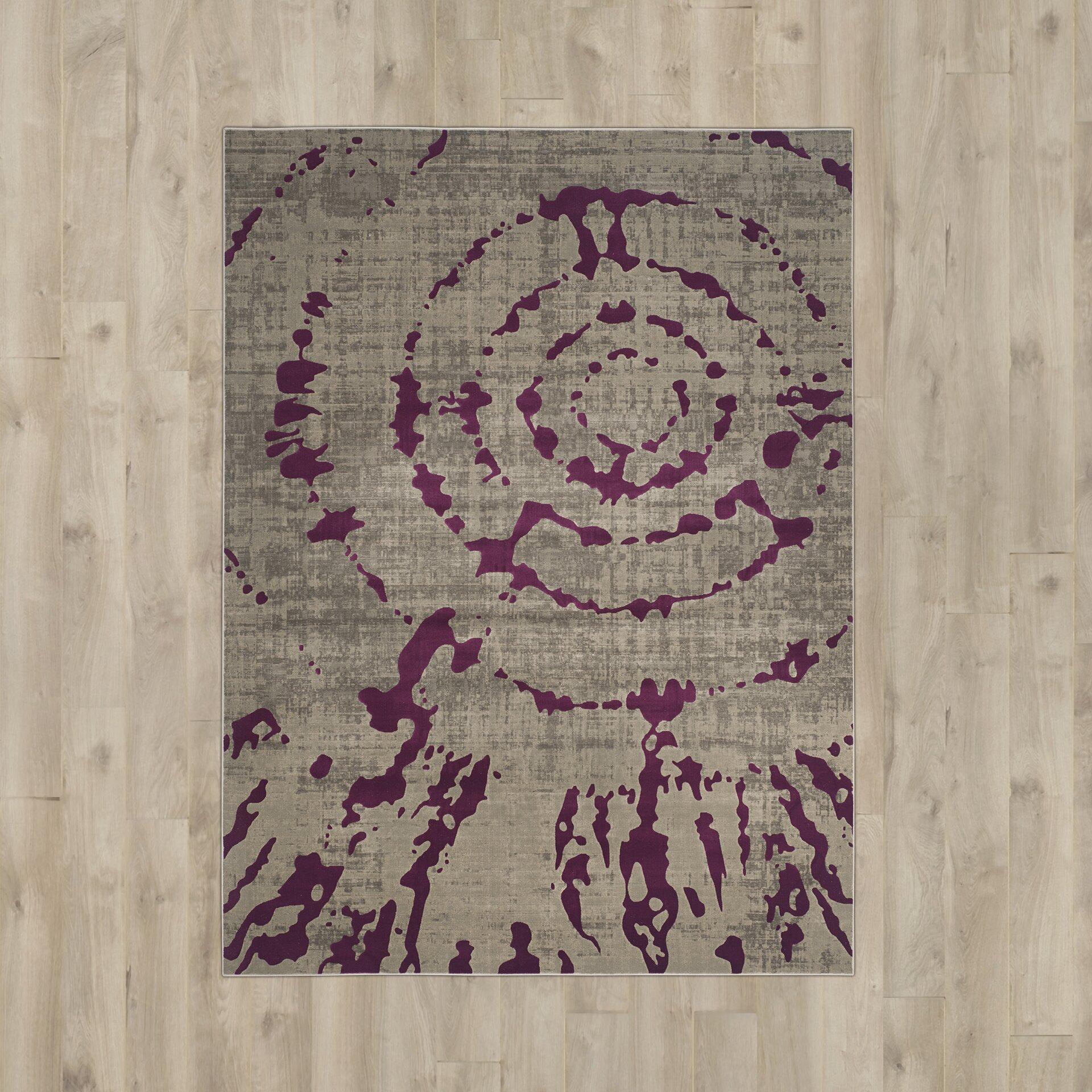 Purple And Gray Area Rugs: Bungalow Rose Salins Light Grey/Purple Area Rug & Reviews