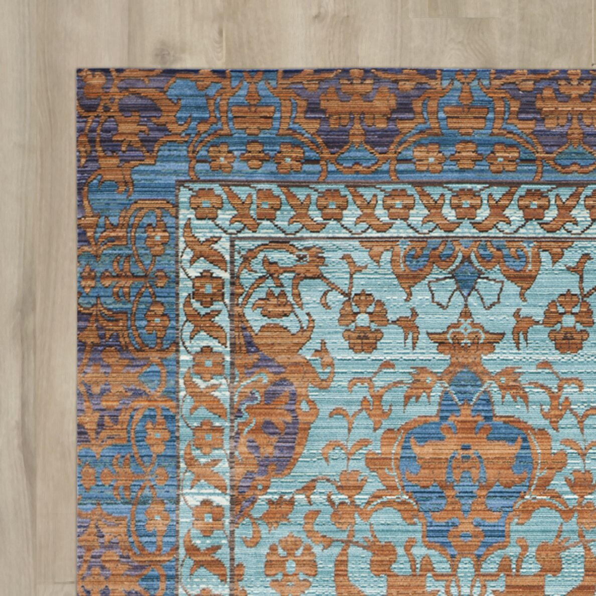 Large Area Rugs Gold: Bungalow Rose Thanh Blue/Gold Area Rug & Reviews