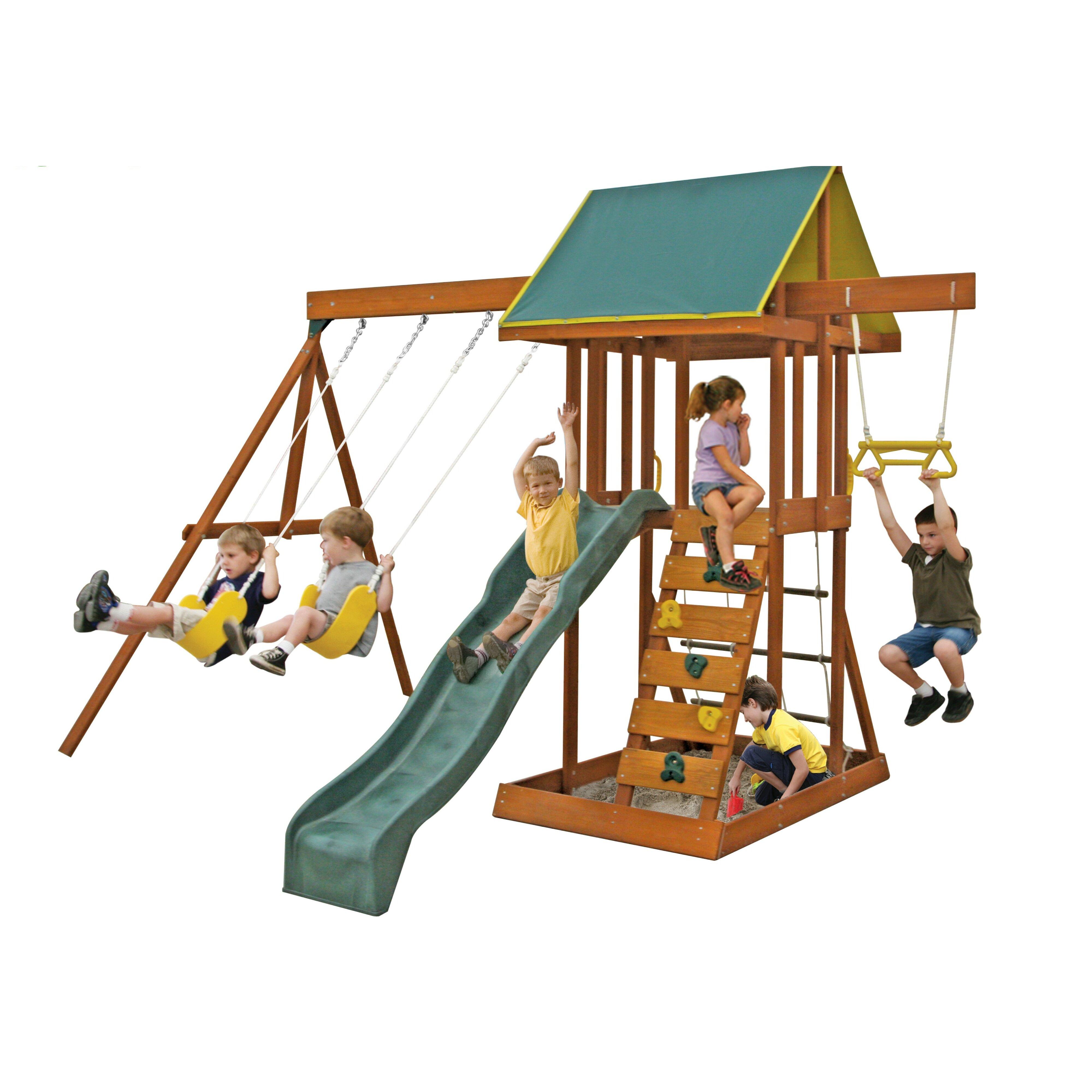 viv rae scout meadowvale wooden swing set reviews. Black Bedroom Furniture Sets. Home Design Ideas